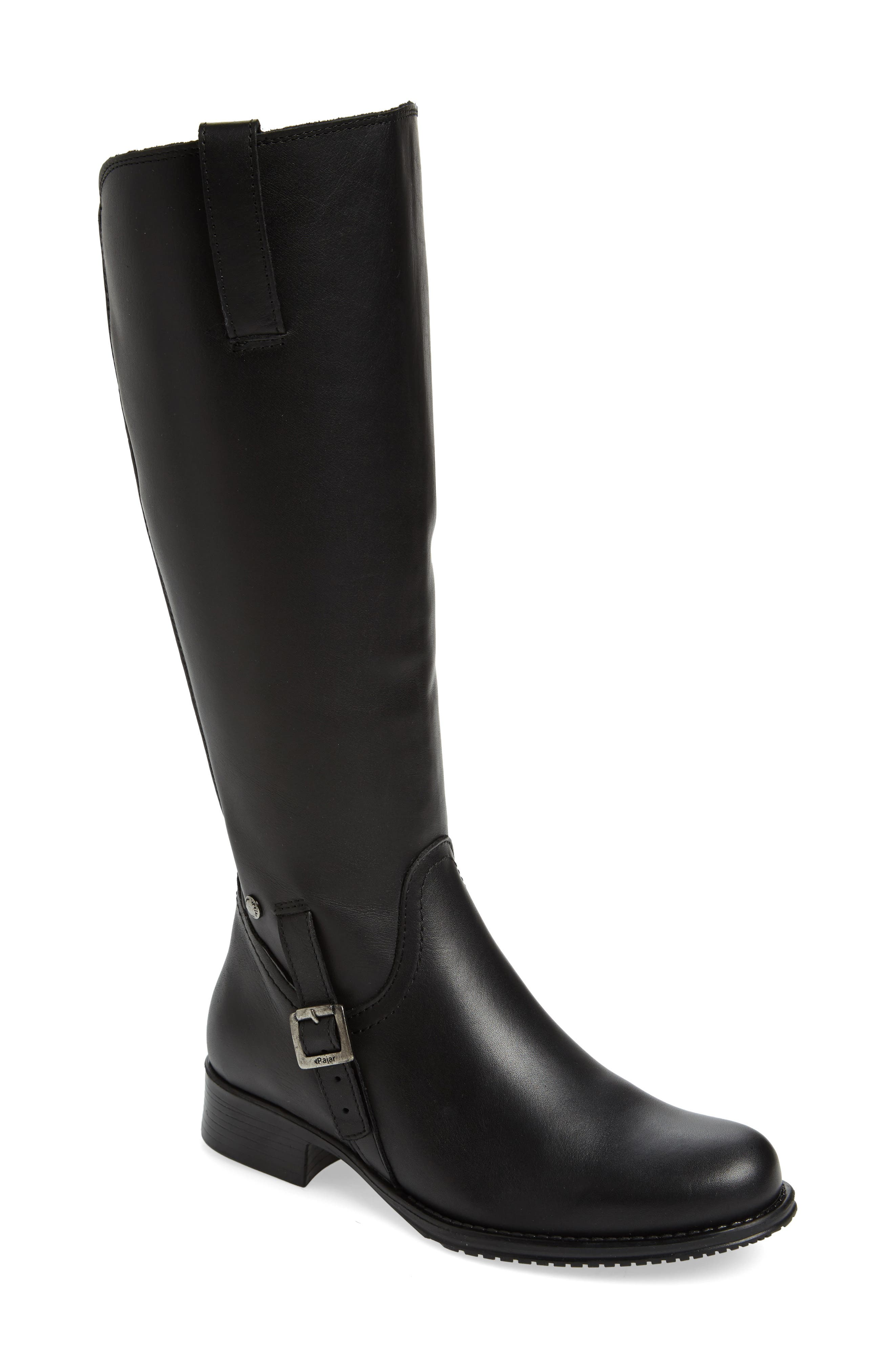 Dogueno Waterproof Boot,                             Main thumbnail 1, color,                             Black Leather