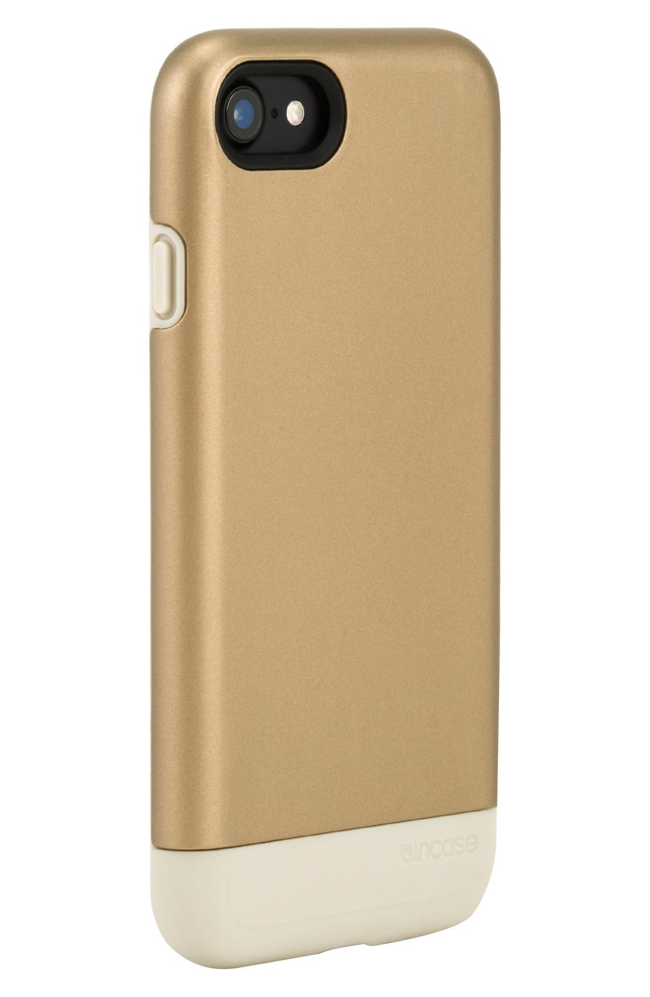Dual Snap iPhone 7 & 8 Case,                             Alternate thumbnail 3, color,                             Gold