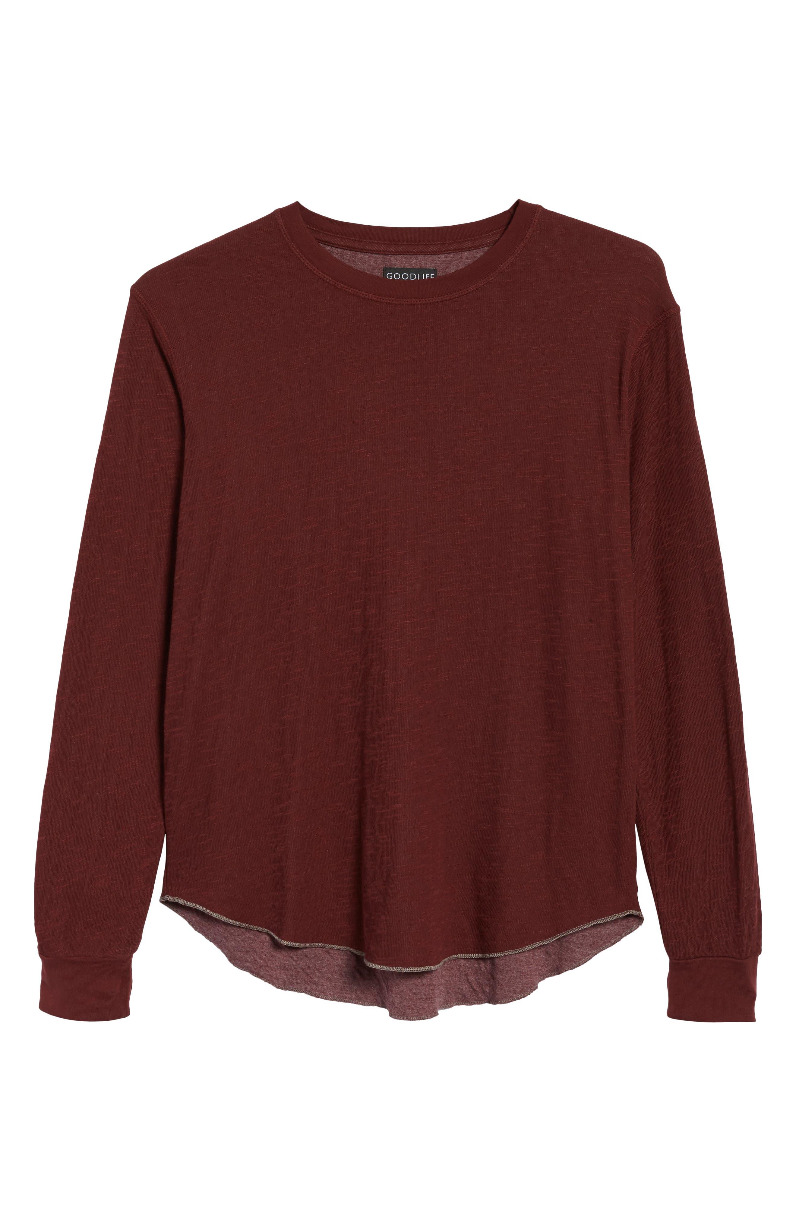 Double Layer Slim Crewneck T-Shirt,                             Alternate thumbnail 6, color,                             Andorra