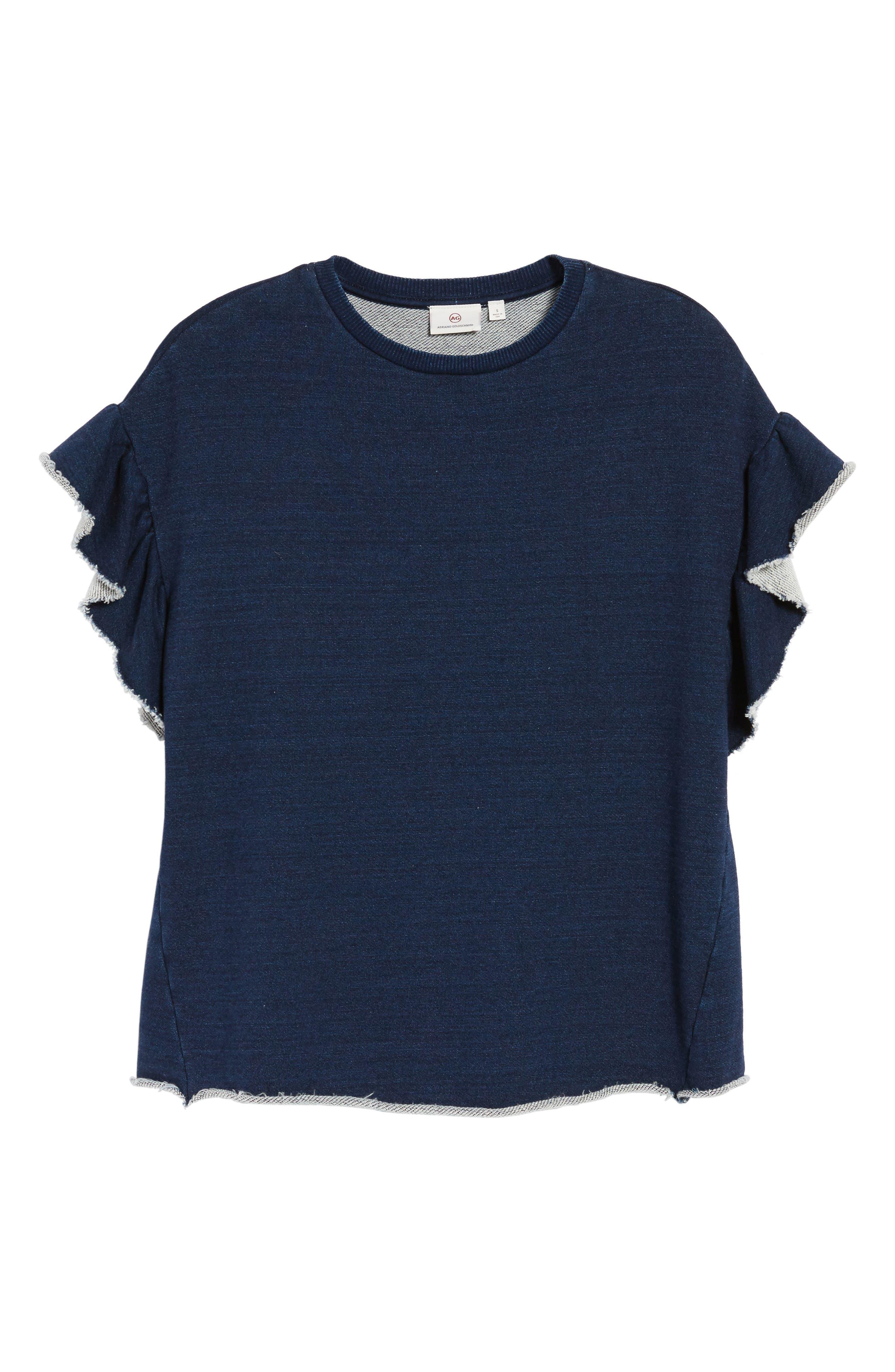 Alternate Image 6  - AG Bes Ruffle Sweatshirt