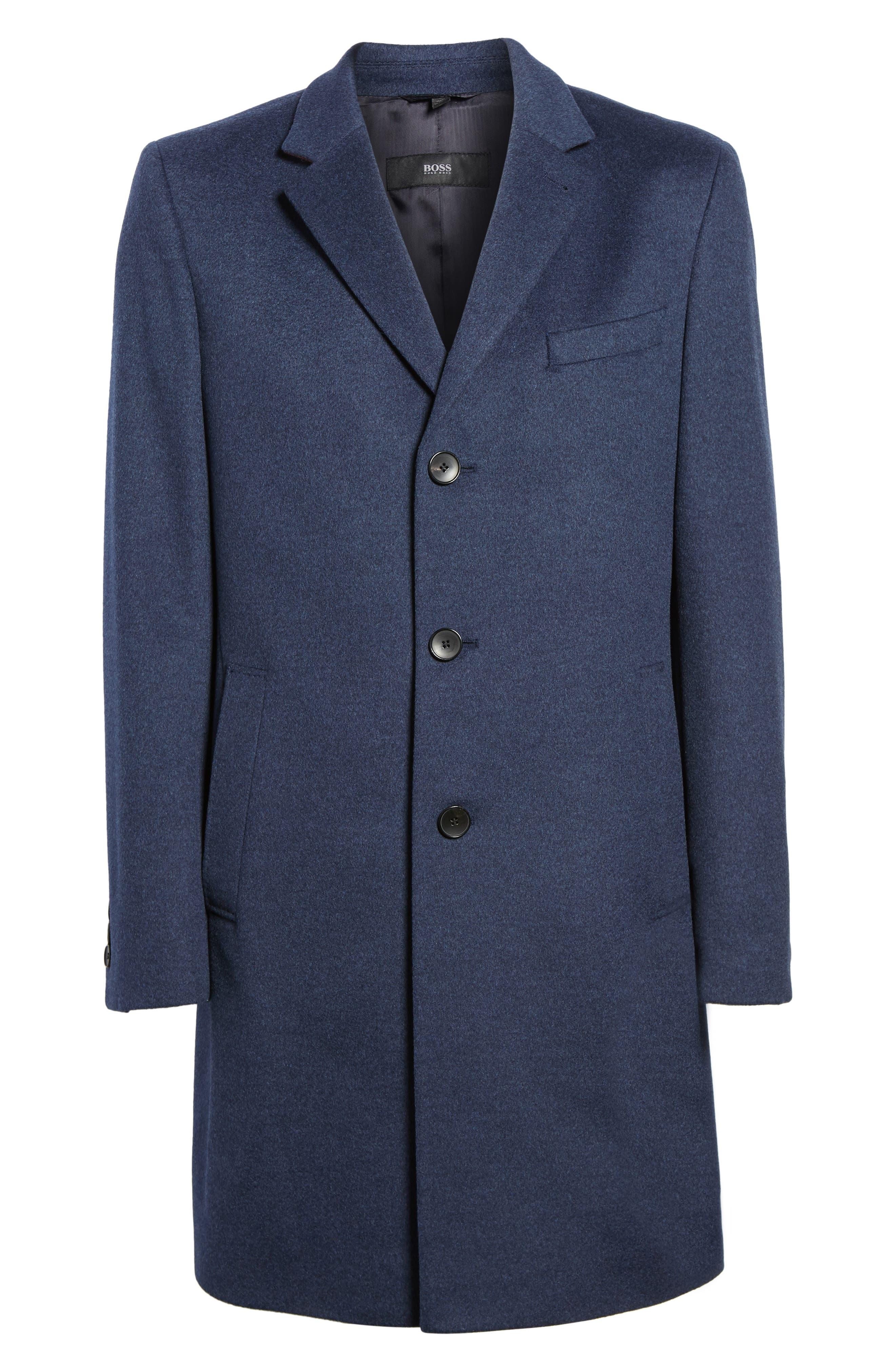 Alternate Image 6  - BOSS Nye Wool & Cashmere Topcoat