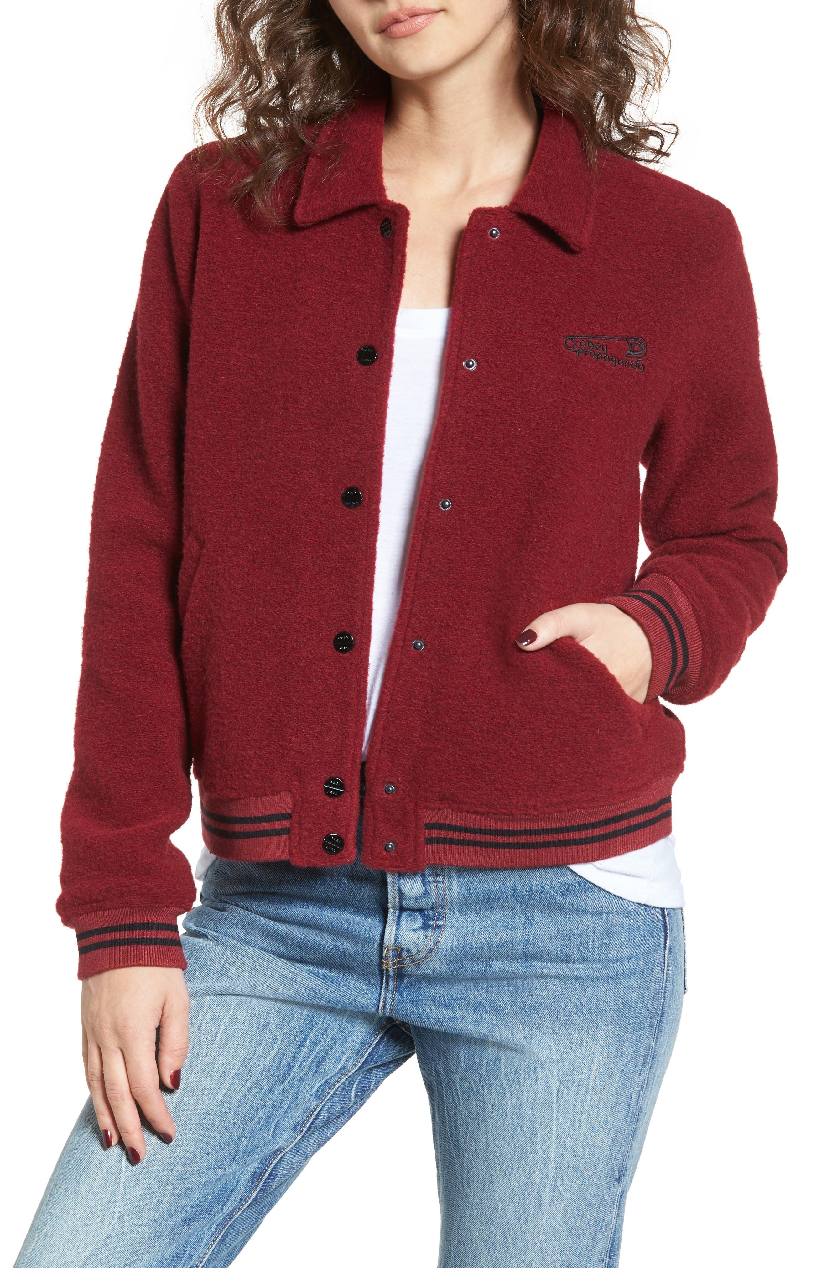 Cambridge Jacket,                         Main,                         color, Cranberry