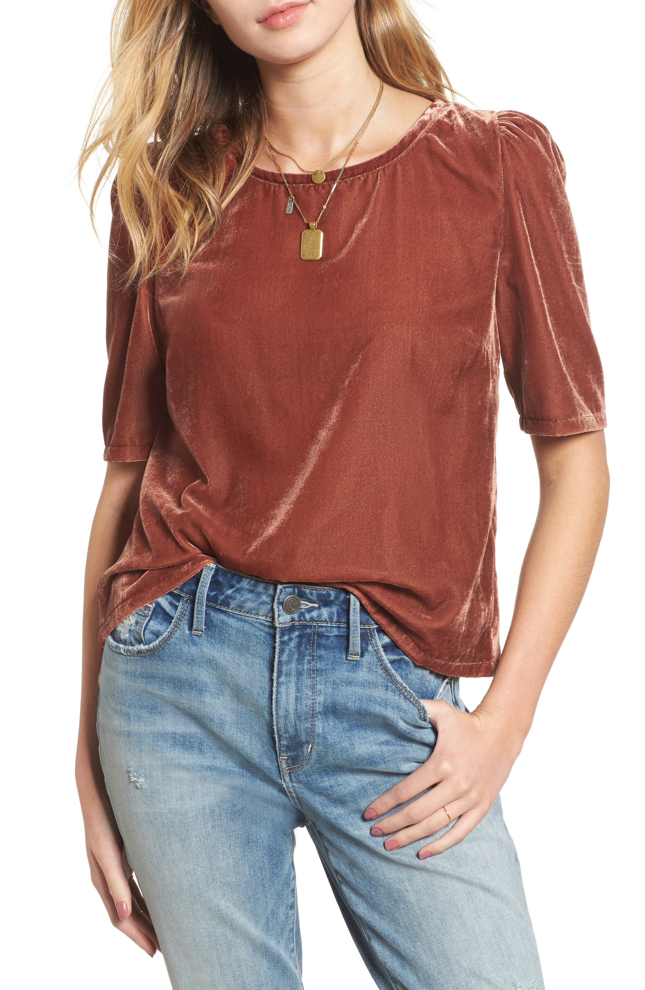 Treasure & Bond Velvet Top