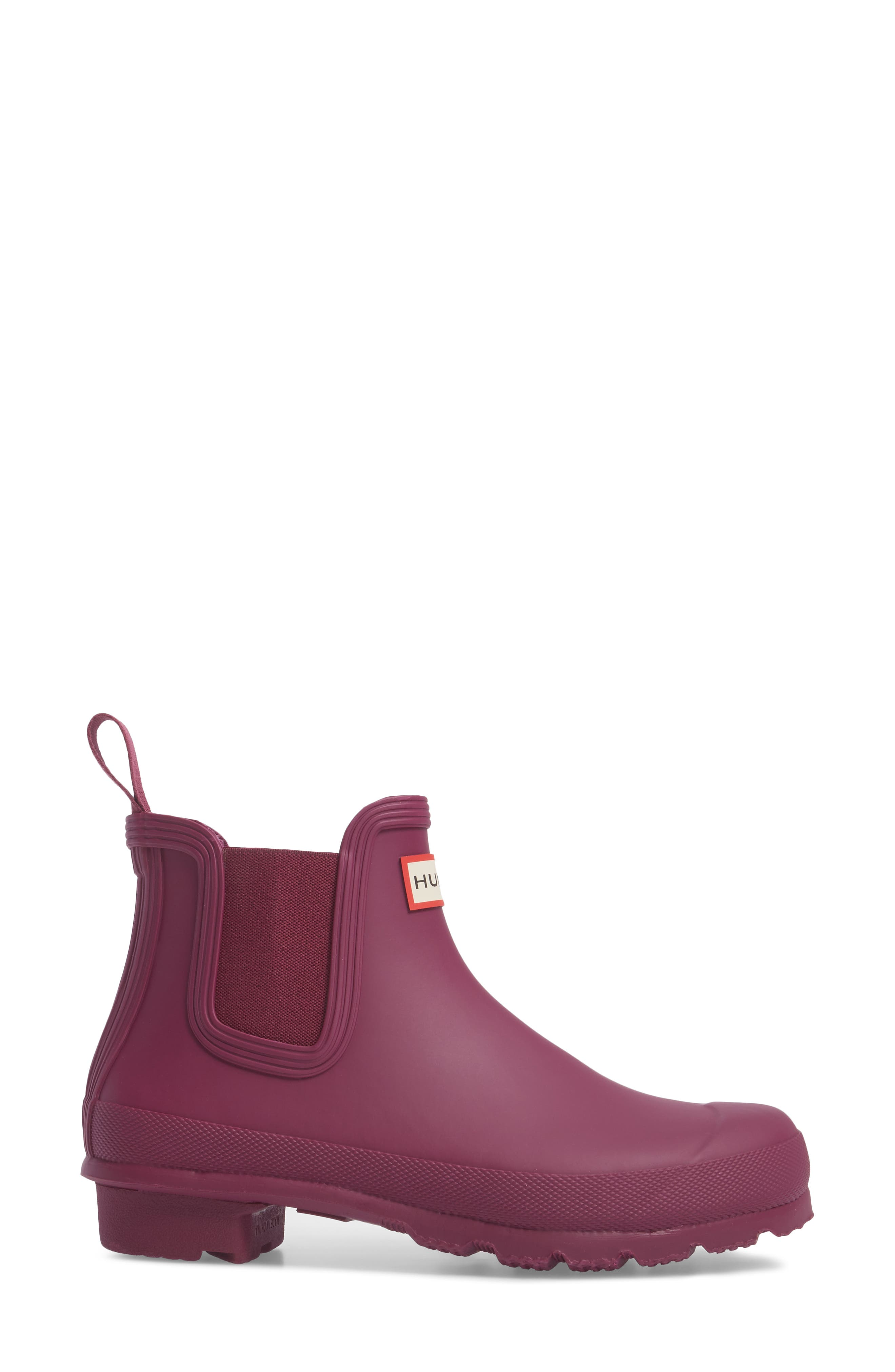 'Original' Waterproof Chelsea Rain Boot,                             Alternate thumbnail 3, color,                             Violet