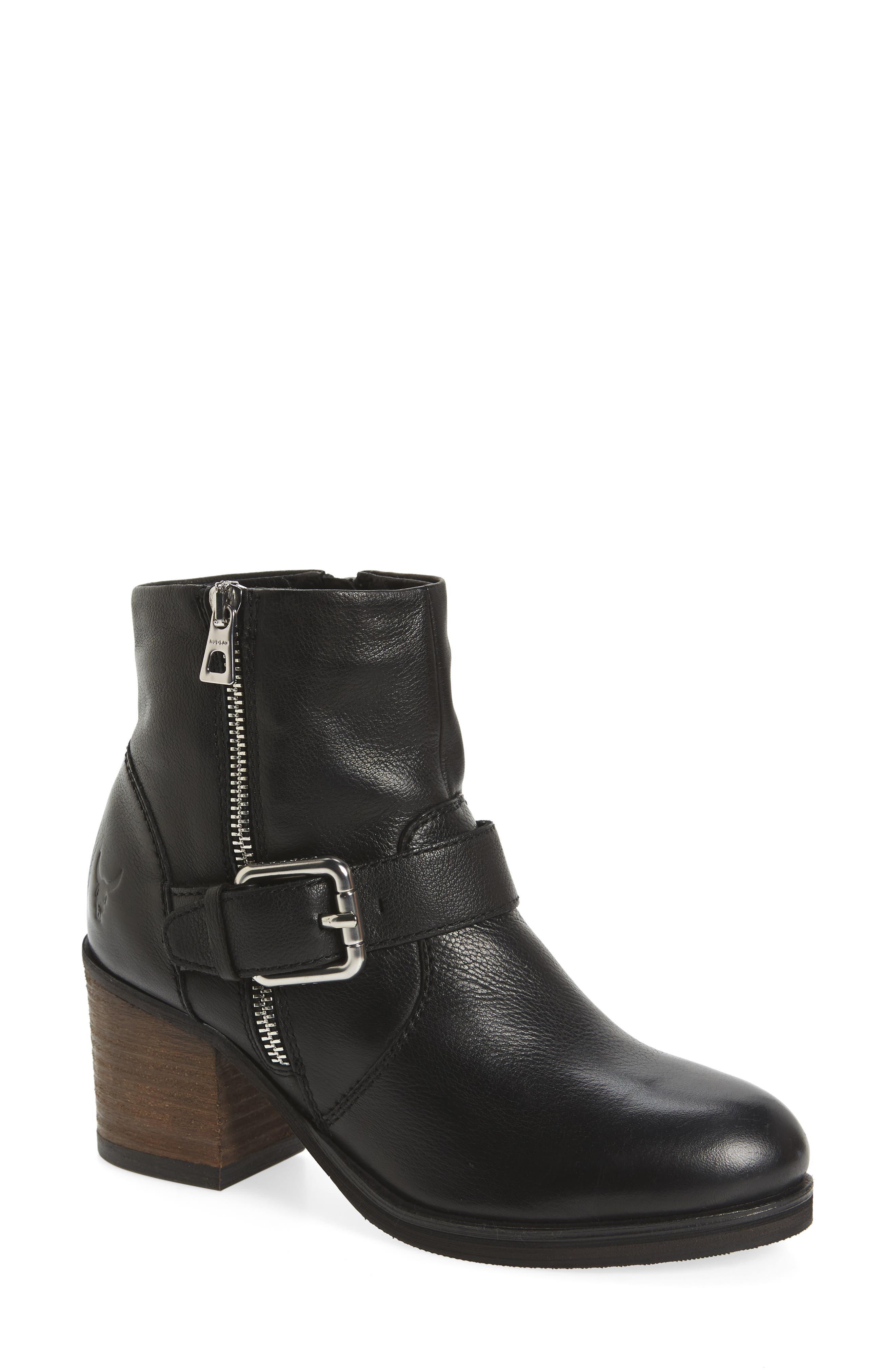 Balady Boot,                         Main,                         color, Black/ Black Leather