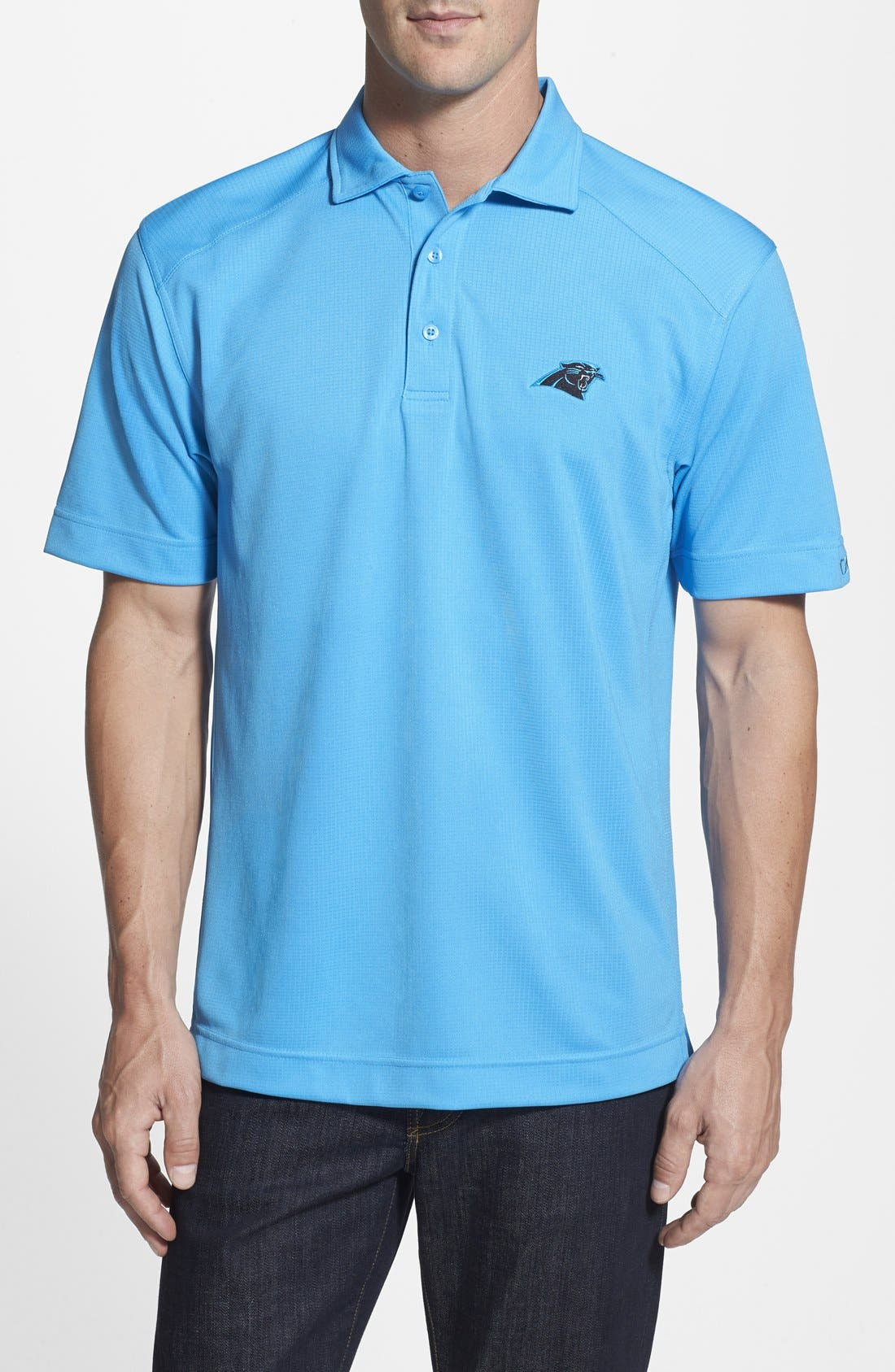 Cutter & Buck 'Carolina Panthers - Genre' DryTec Moisture Wicking Polo (Big & Tall)