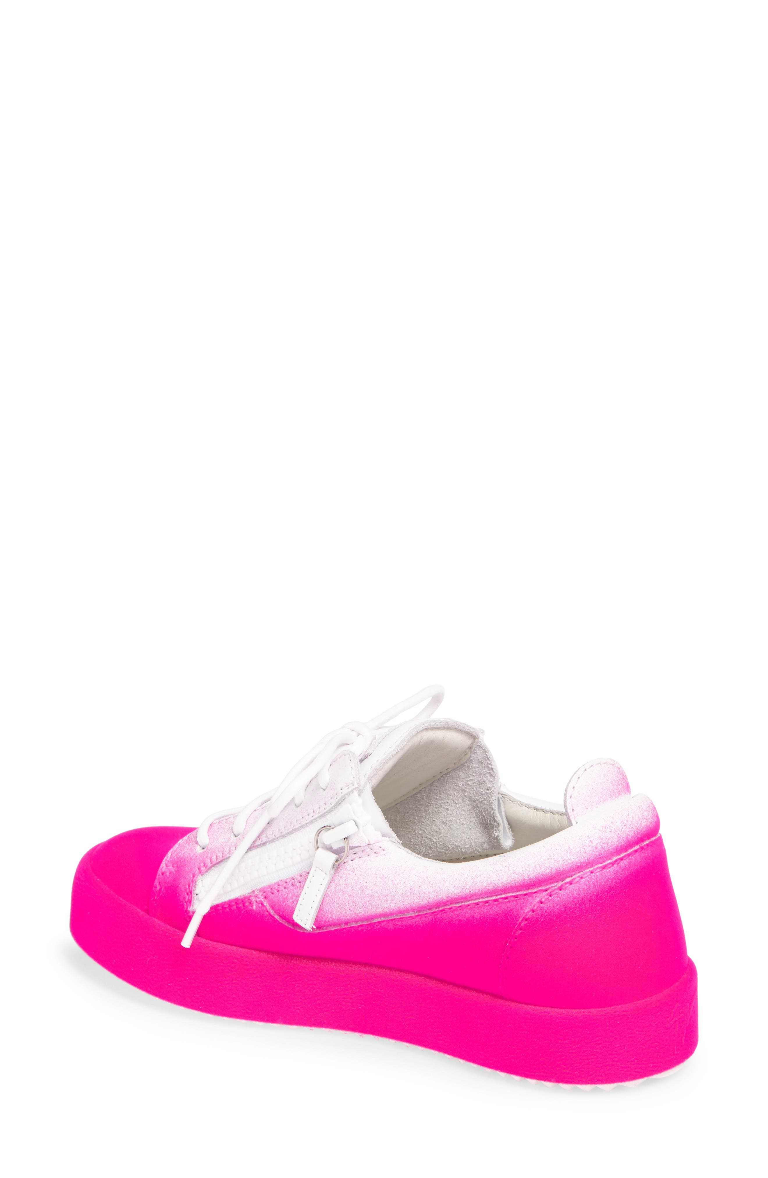 May London Low Top Sneaker,                             Alternate thumbnail 2, color,                             White/ Pink