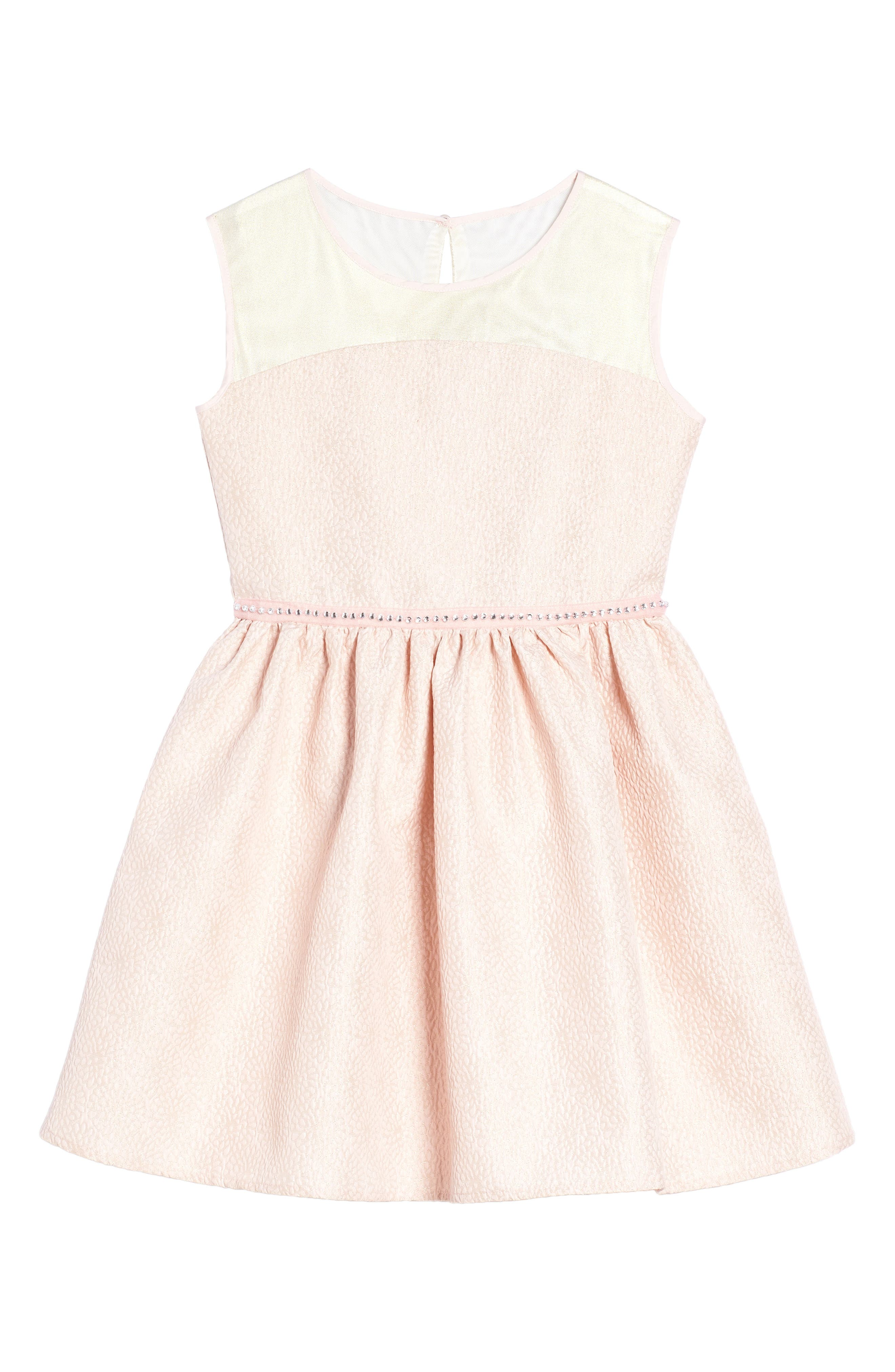 Fit & Flare Dress,                             Main thumbnail 1, color,                             Pink