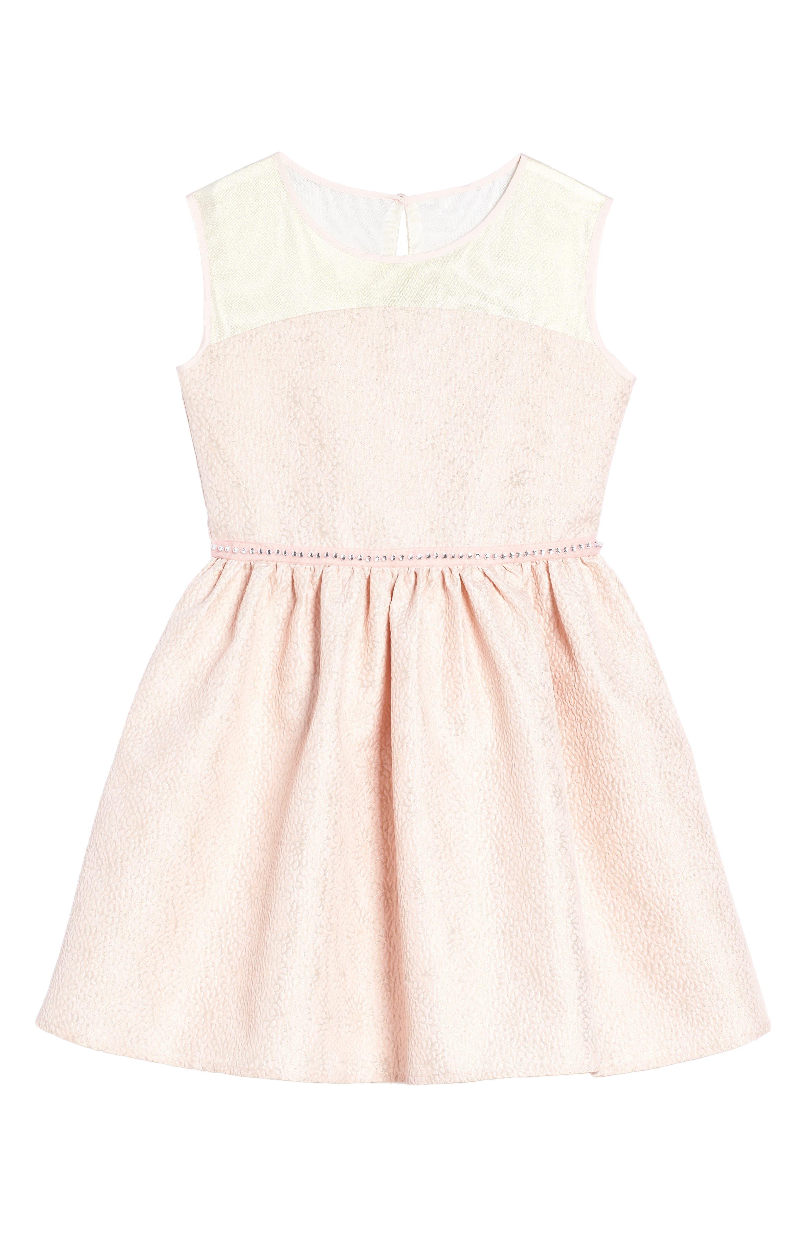 Main Image - BLUSH by Us Angels Fit & Flare Dress (Big Girls)