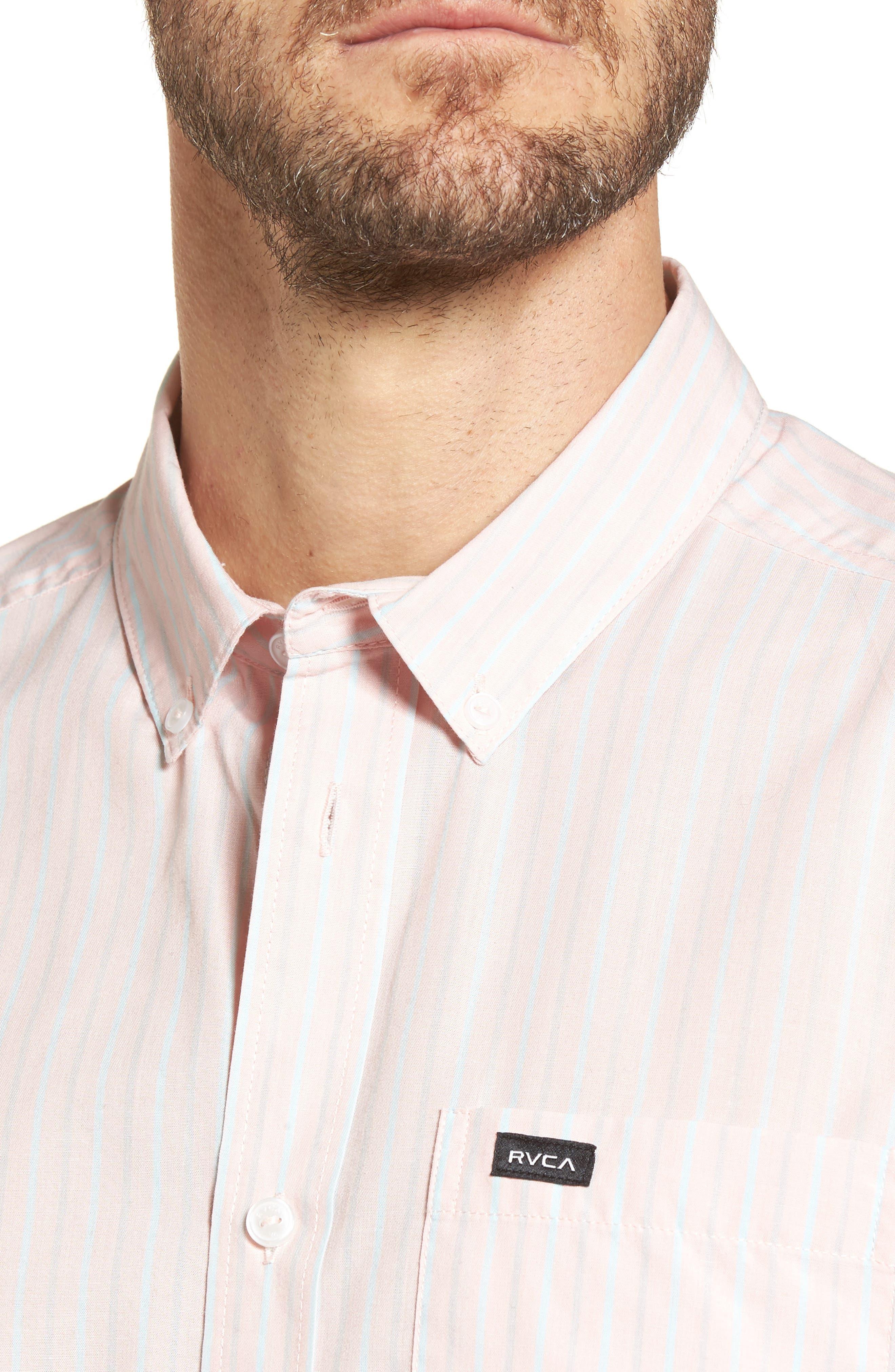 Alternate Image 4  - RVCA Everyday Stripe Shirt