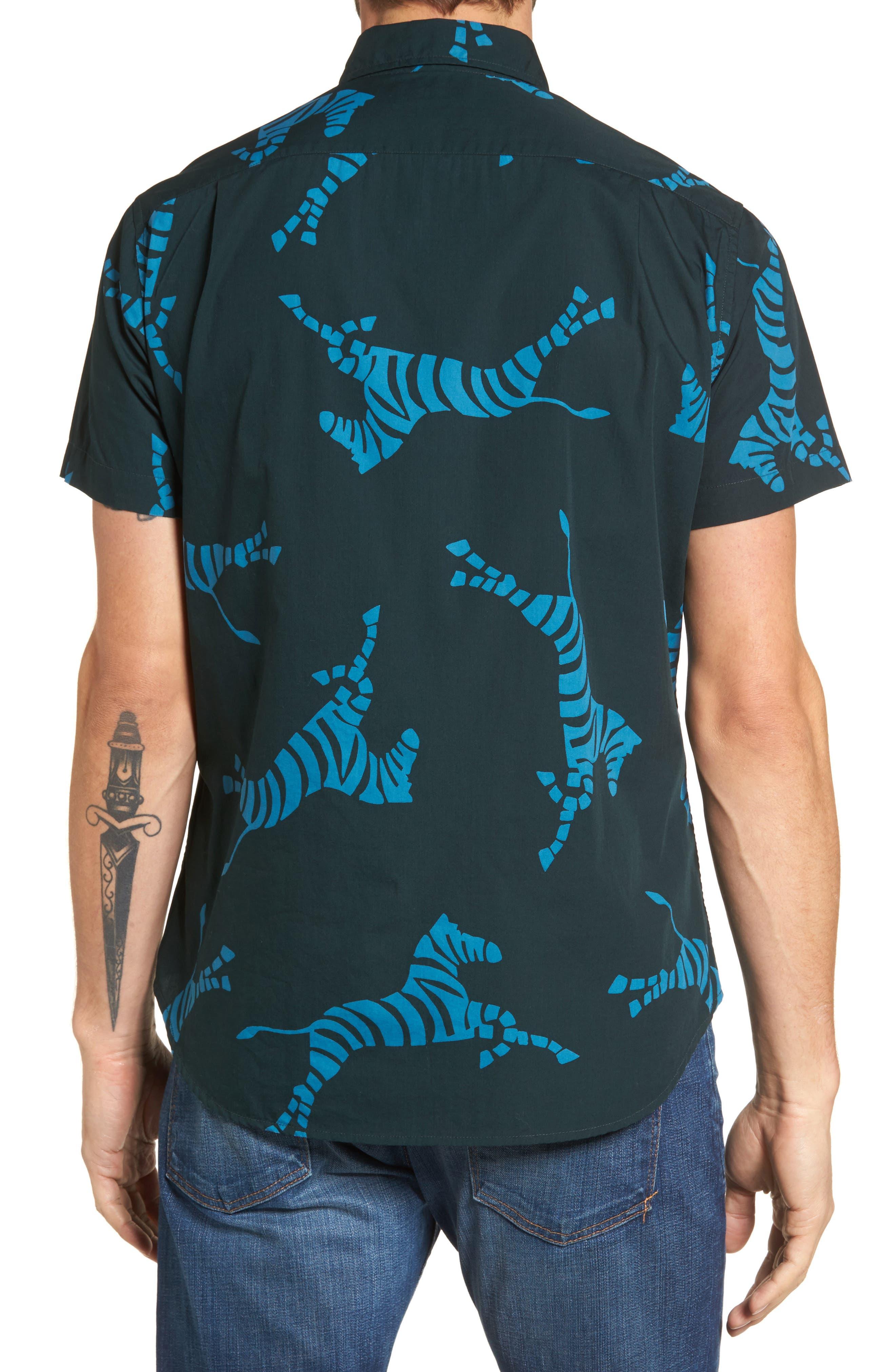 Alternate Image 2  - Bonobos Slim Fit Zebra Sport Shirt