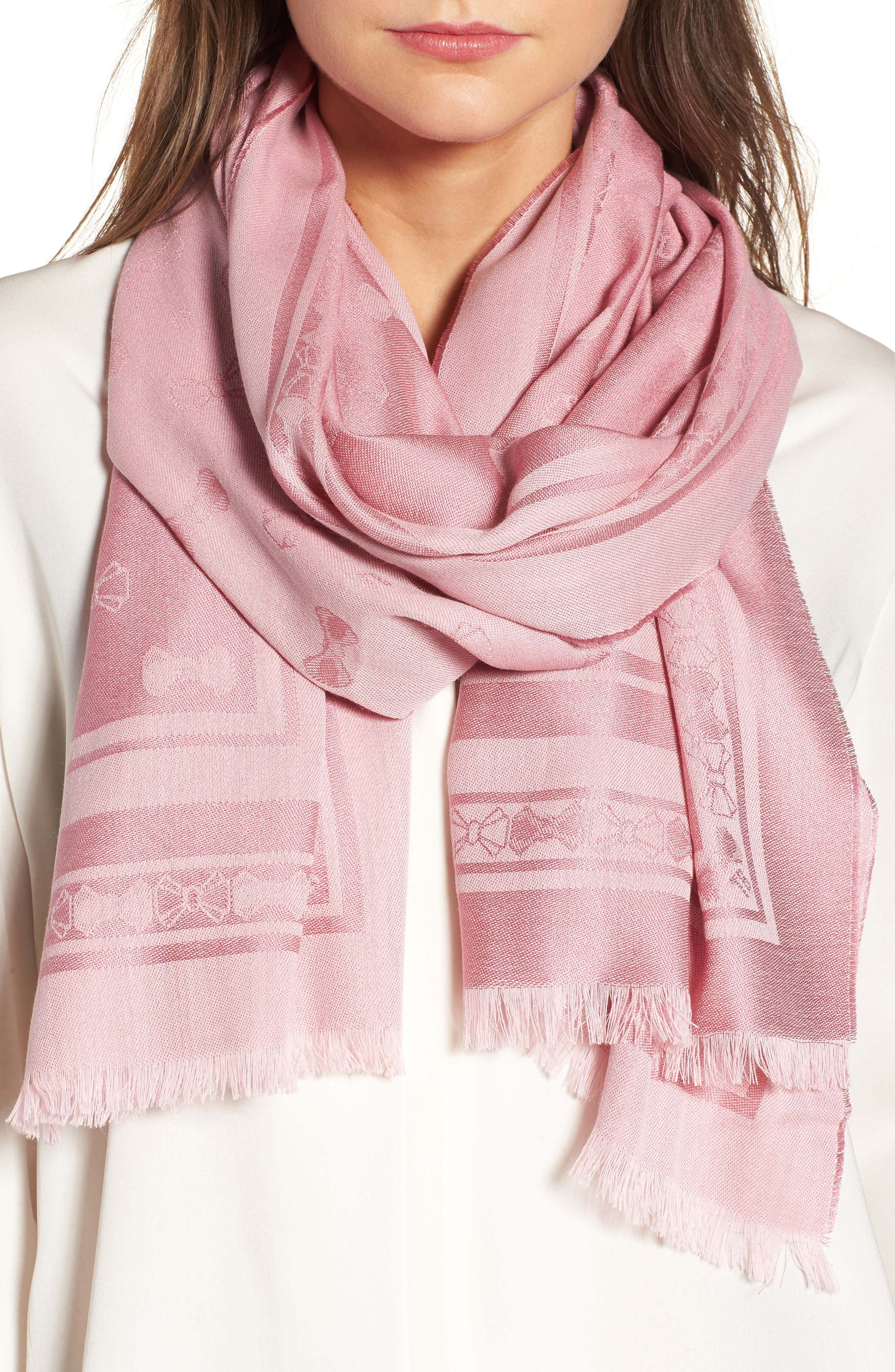 Ted Baker London Bow Jacquard Wool & Silk Scarf