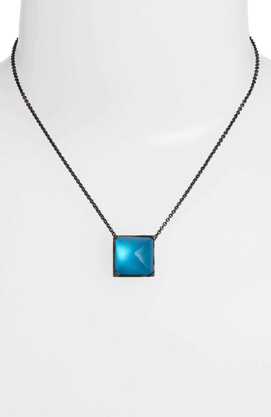 Alternate Image 1 Selected - Alexis Bittar 'Lucite® - Santa Fe Deco' Pyramid Pendant Necklace