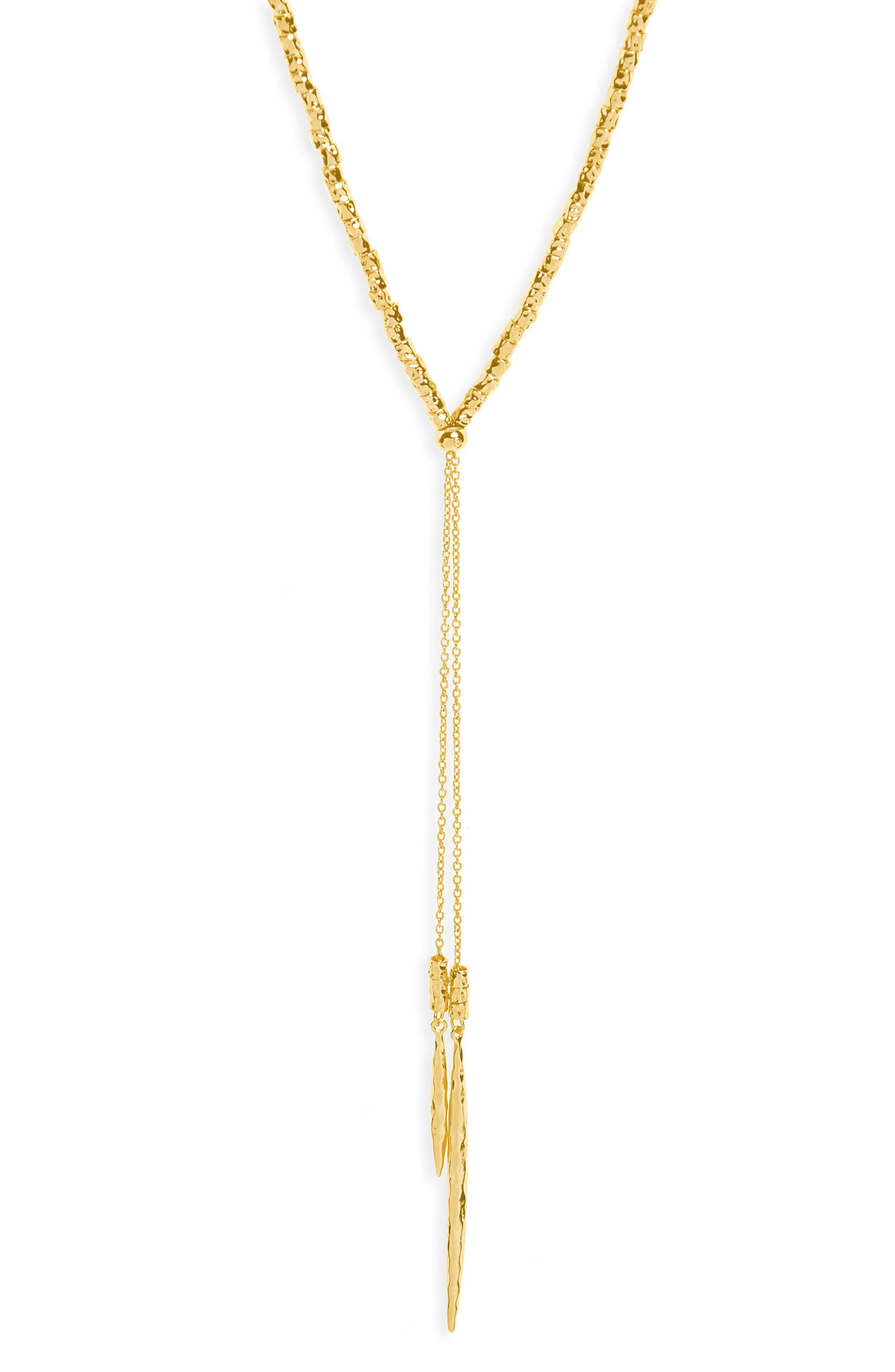 Laguna Adjustable Lariat Necklace,                             Main thumbnail 1, color,                             Gold
