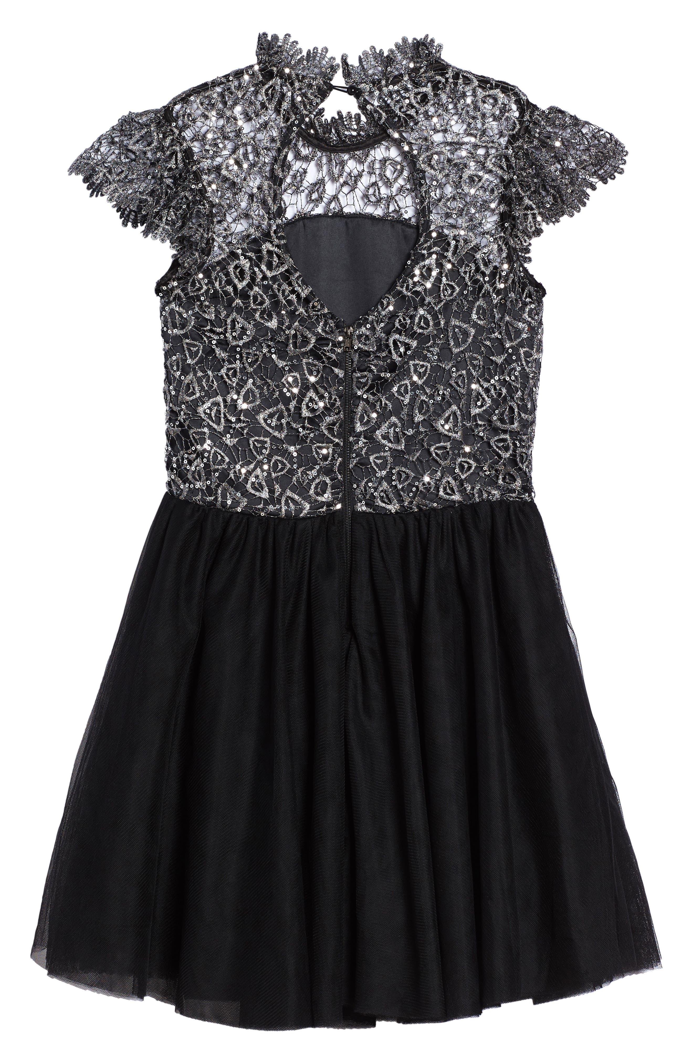 Bling Rocky Dress,                             Alternate thumbnail 2, color,                             Black