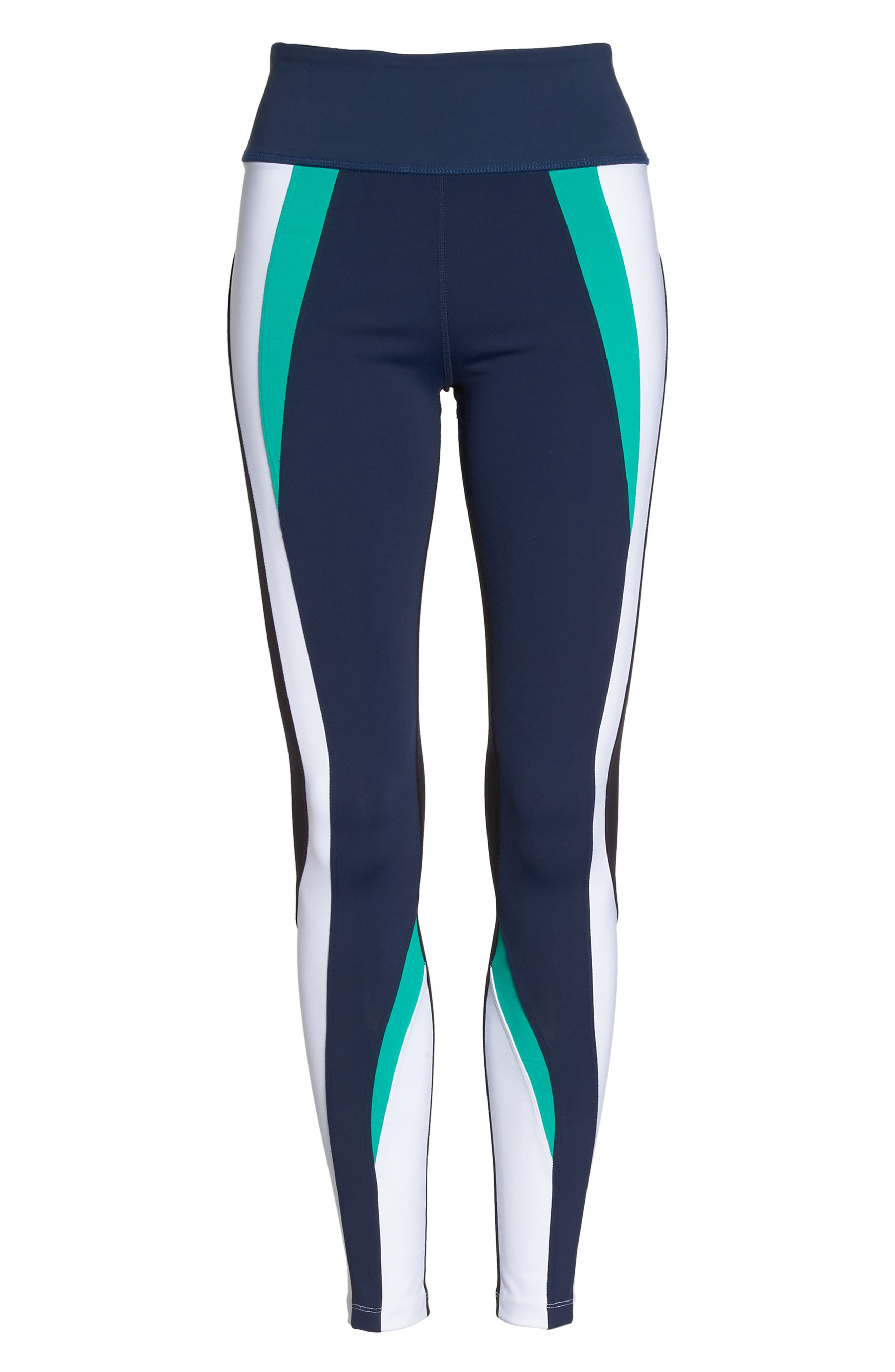 Force Ankle Tights,                             Alternate thumbnail 7, color,                             Navy/ Kelly/ White/ Black