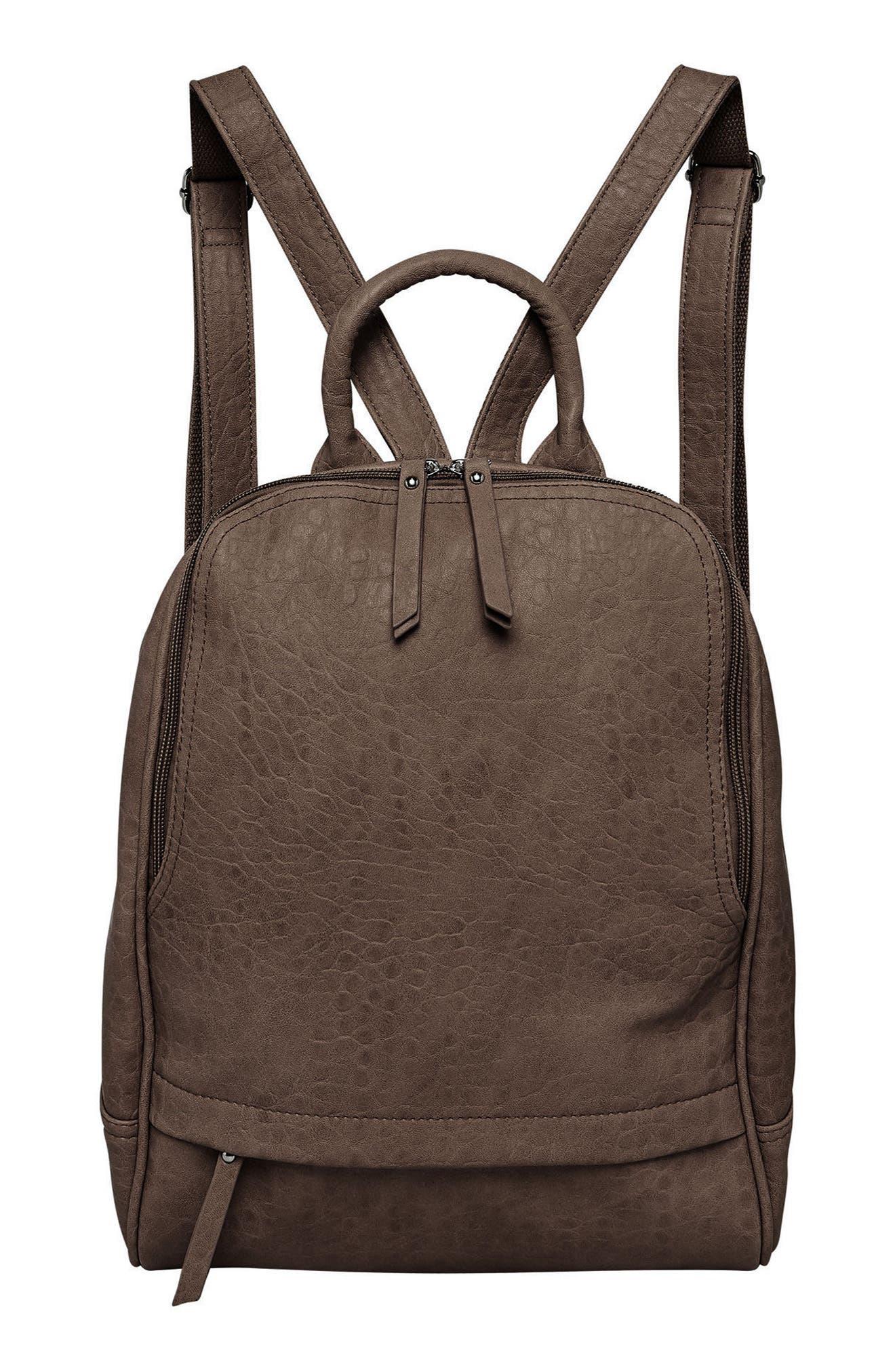 Alternate Image 1 Selected - Urban Originals My Way Vegan Leather Backpack