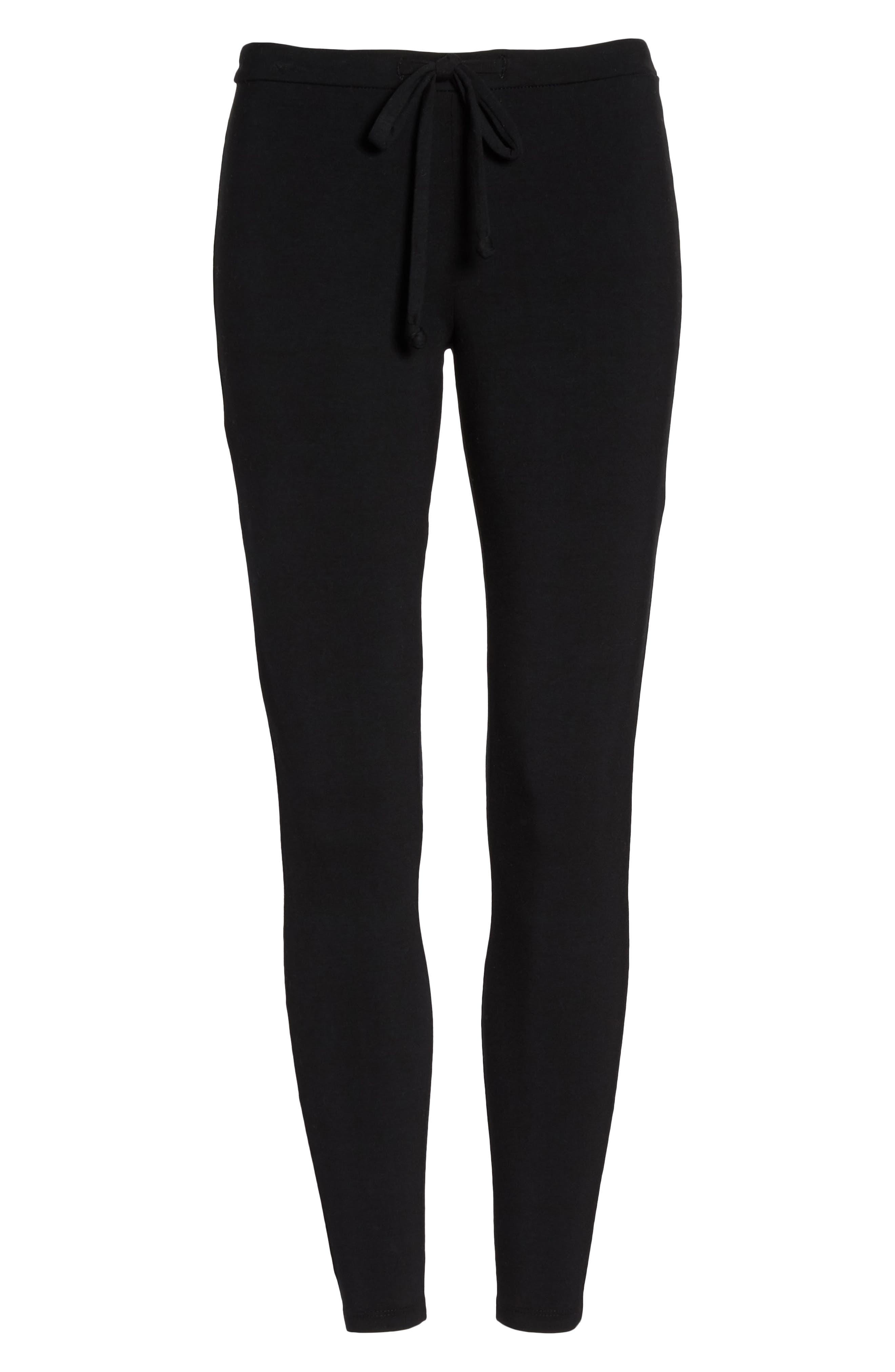 Crisscross Lounge Pants,                             Alternate thumbnail 4, color,                             True Black