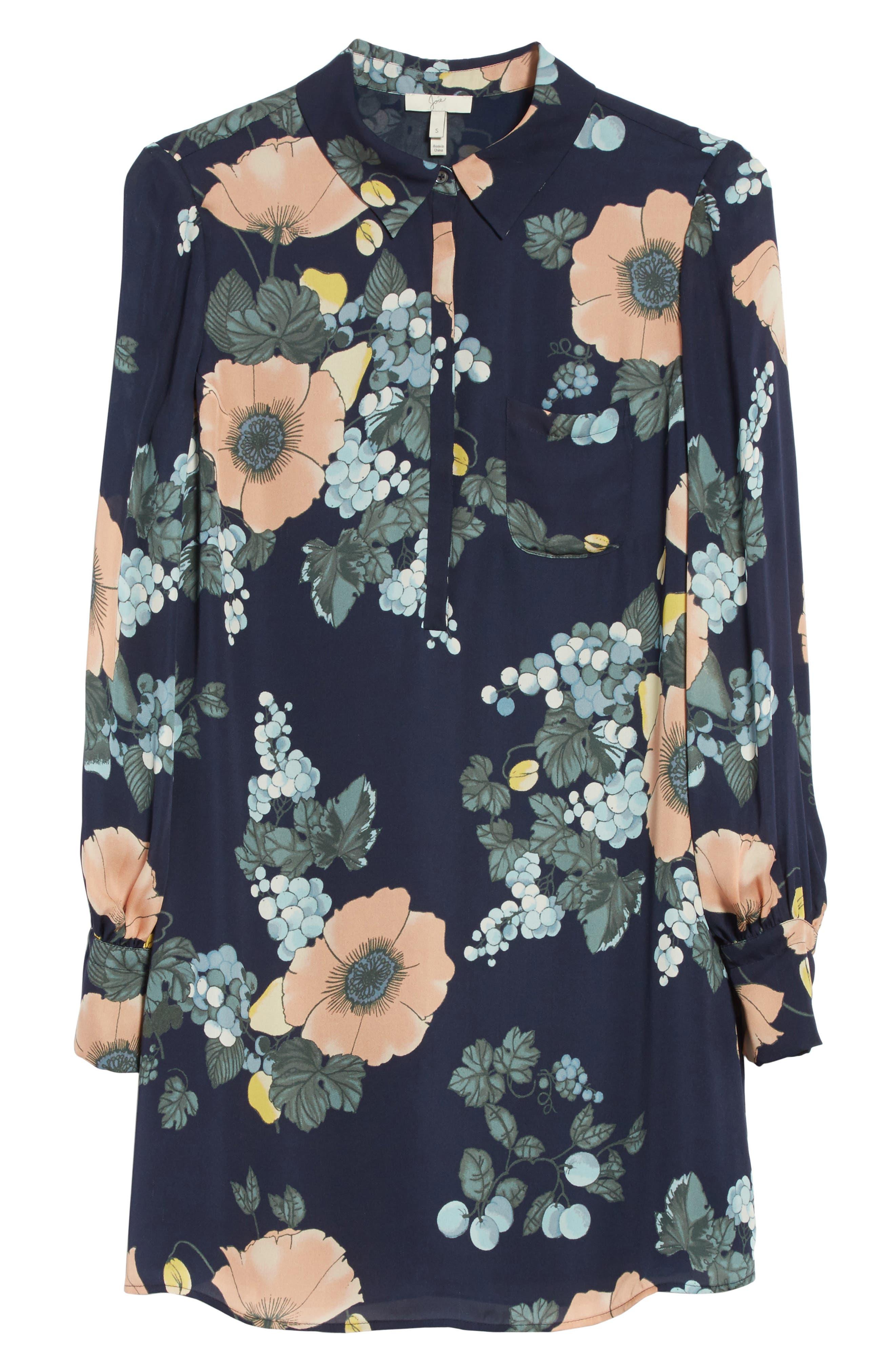 Alternate Image 6  - Joie Amaranda Print Silk Shirtdress