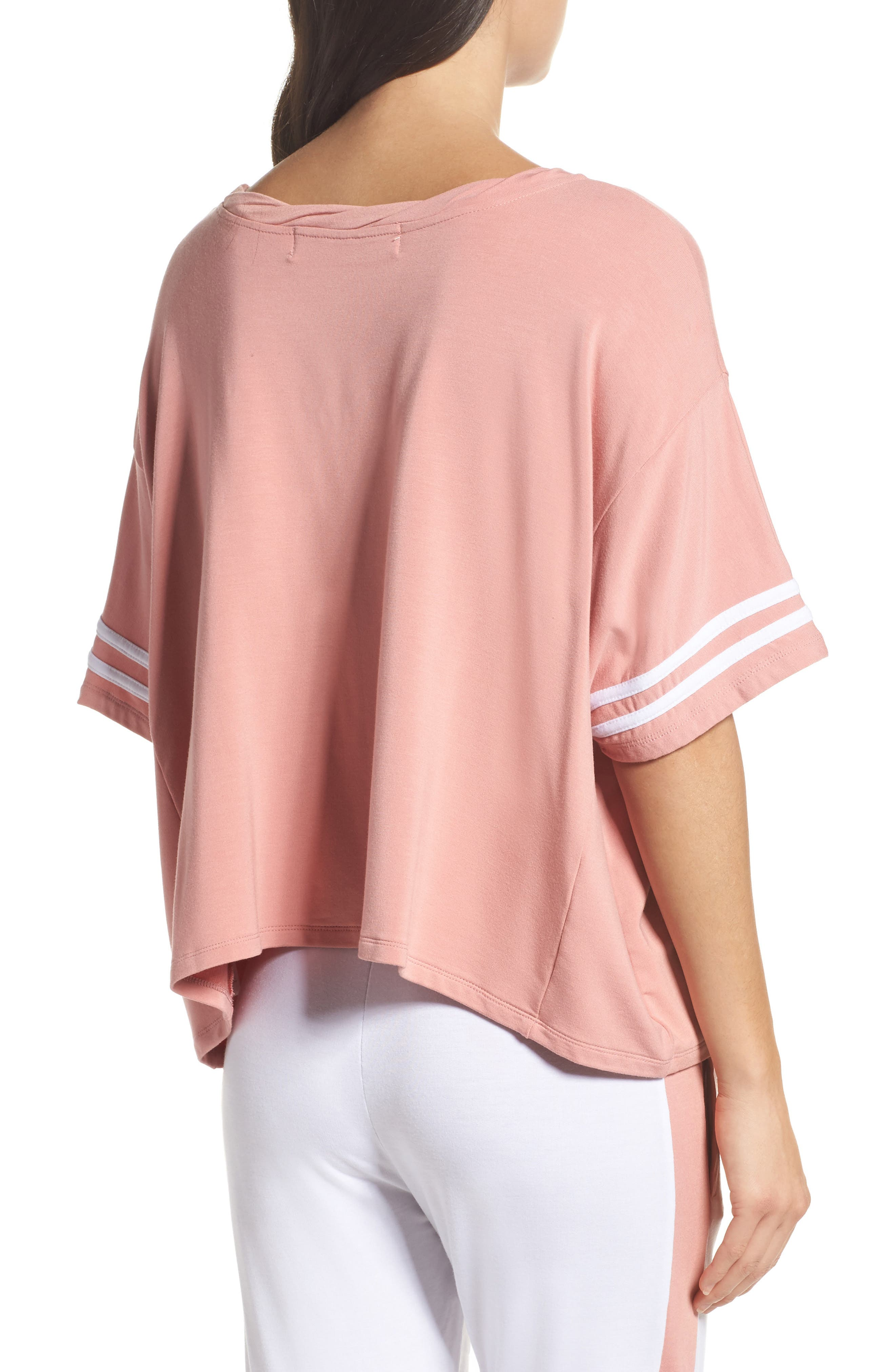 Team Rosé Baggy Tee,                             Alternate thumbnail 2, color,                             White / Champagne