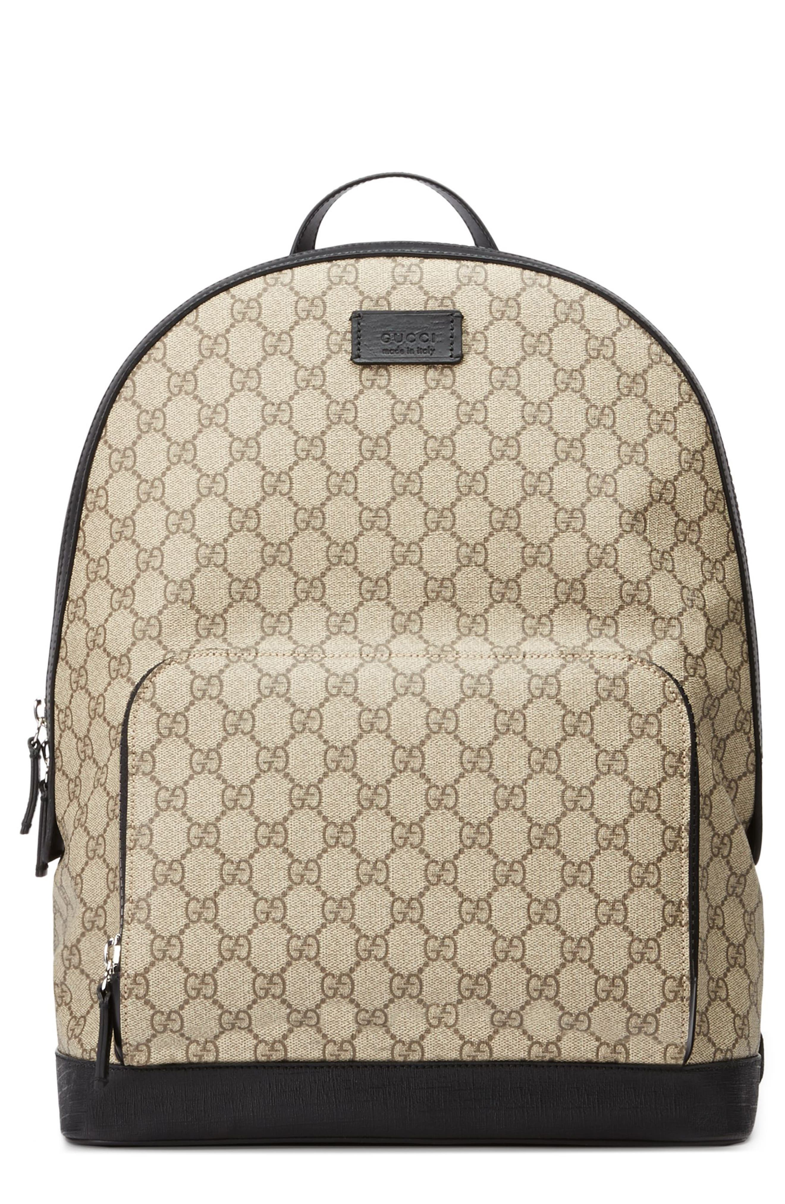 d4a90e3ab10a62 Gucci Gg Supreme Print Backpack, Beige | ModeSens