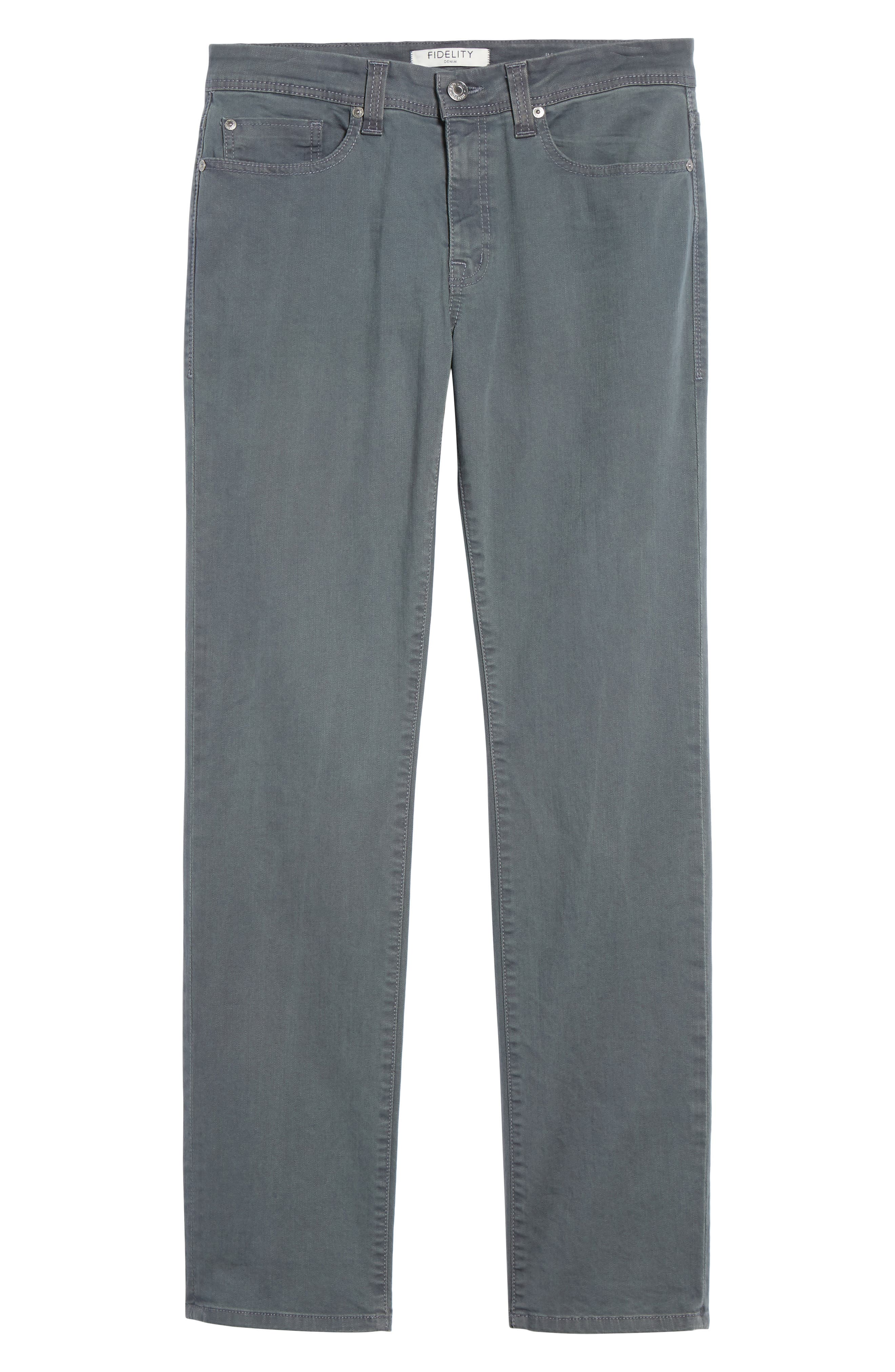 Jimmy Slim Straight Fit Jeans,                             Alternate thumbnail 6, color,                             Oyster