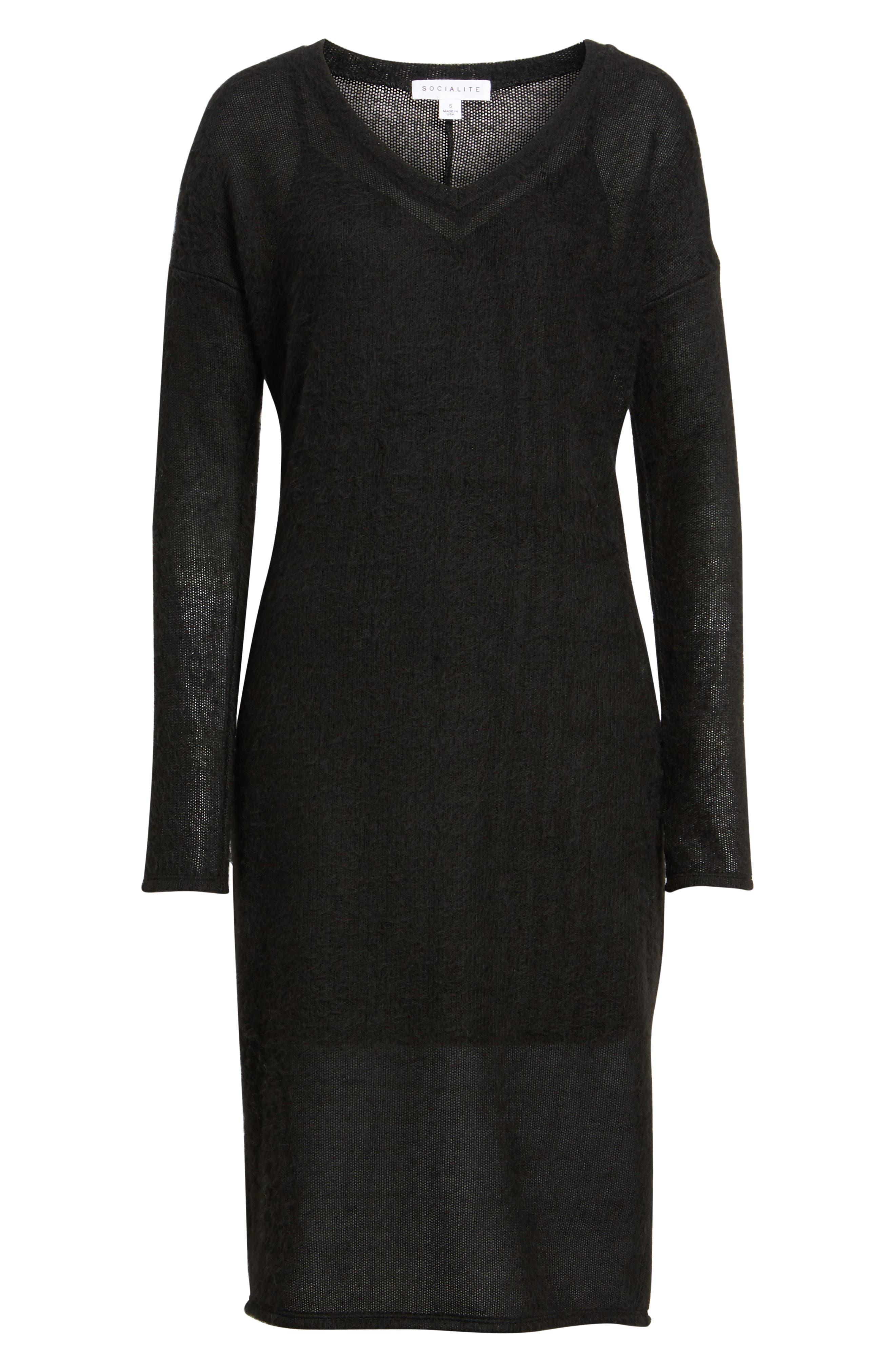 Alternate Image 6  - Socialite Fuzzy Sweater Midi Dress
