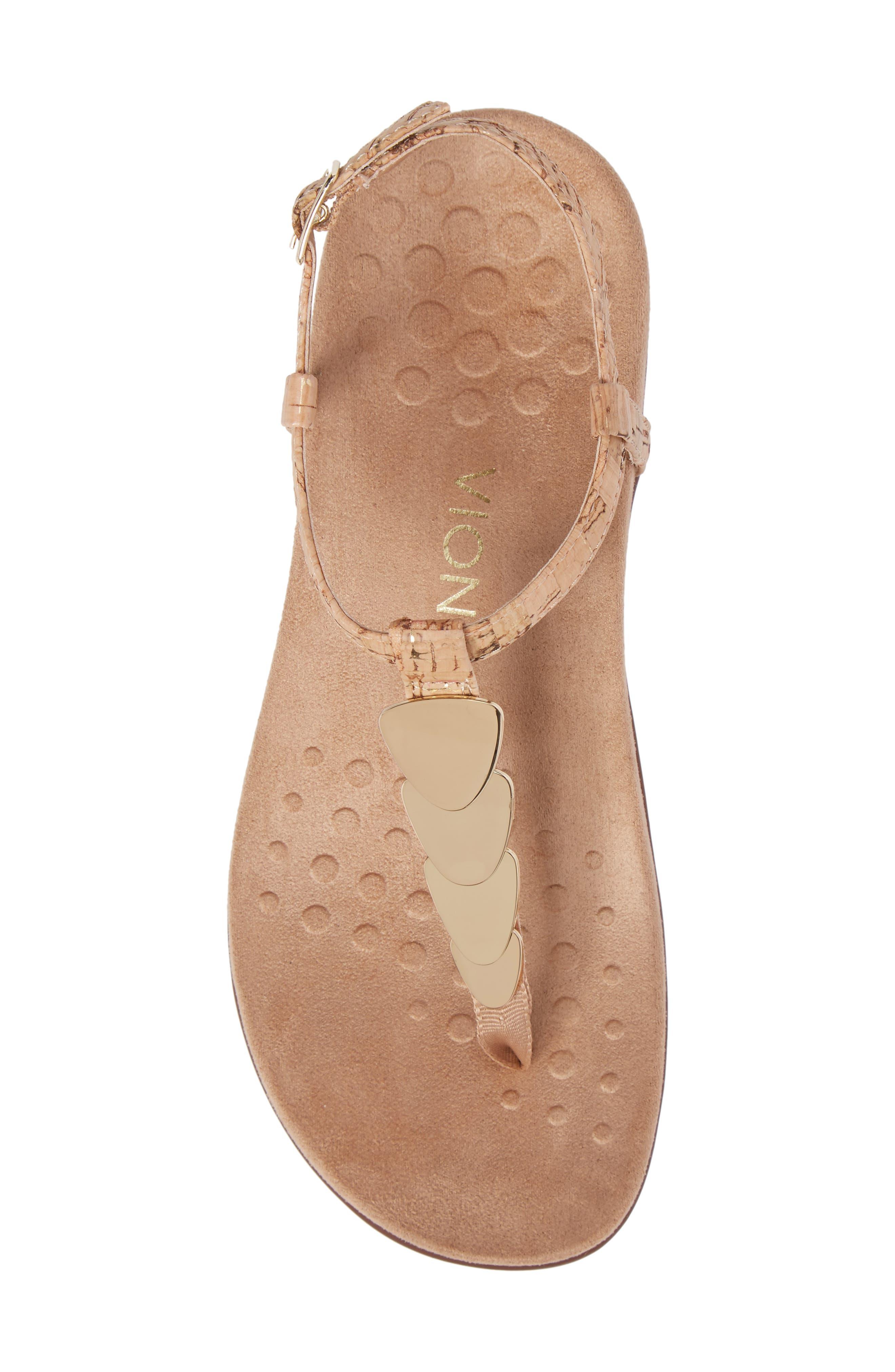Miami T-Strap Sandal,                             Alternate thumbnail 5, color,                             Natural Cork Fabric