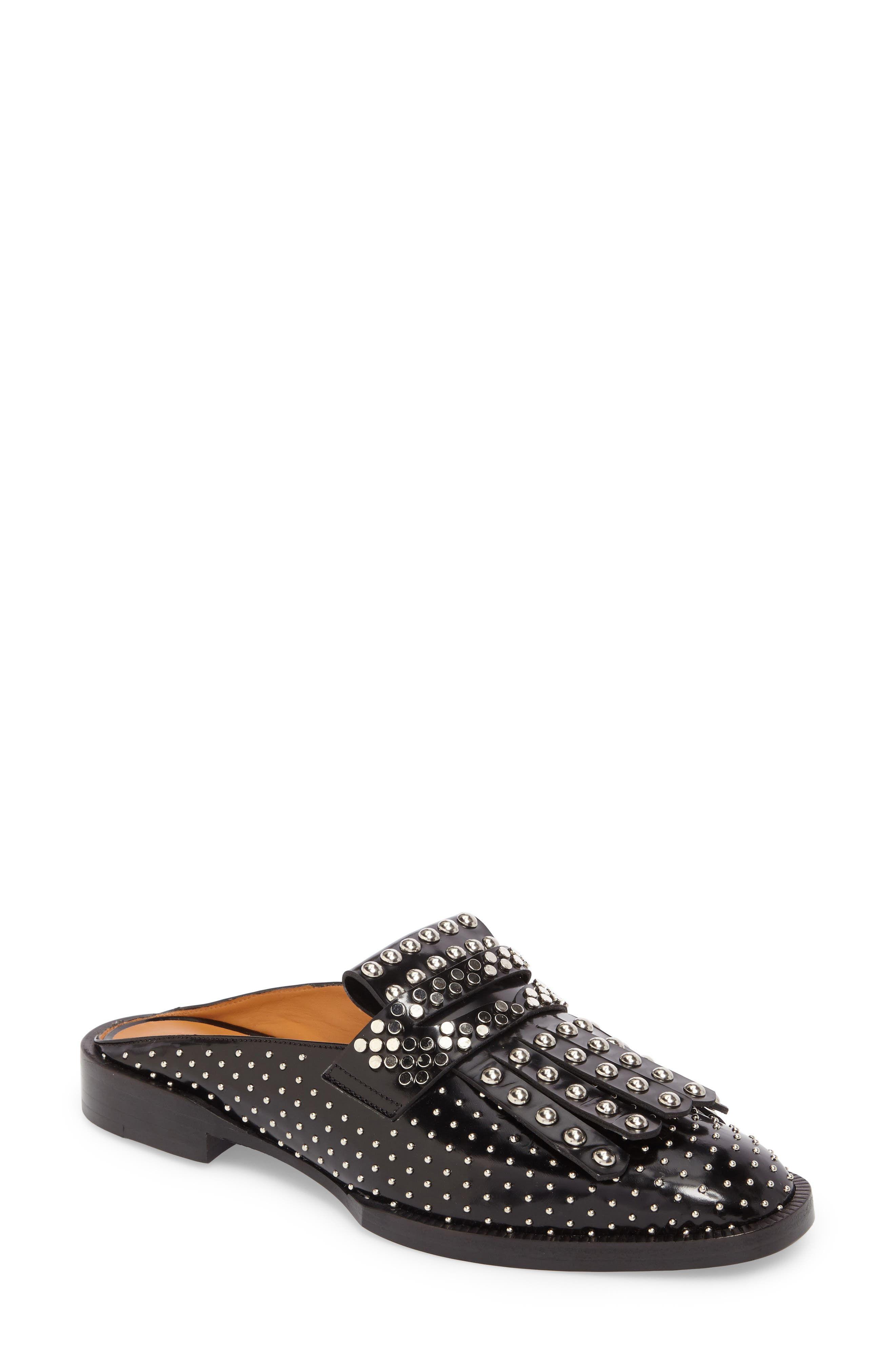 Robert Clergerie Youla Studded Kiltie Mule (Women)