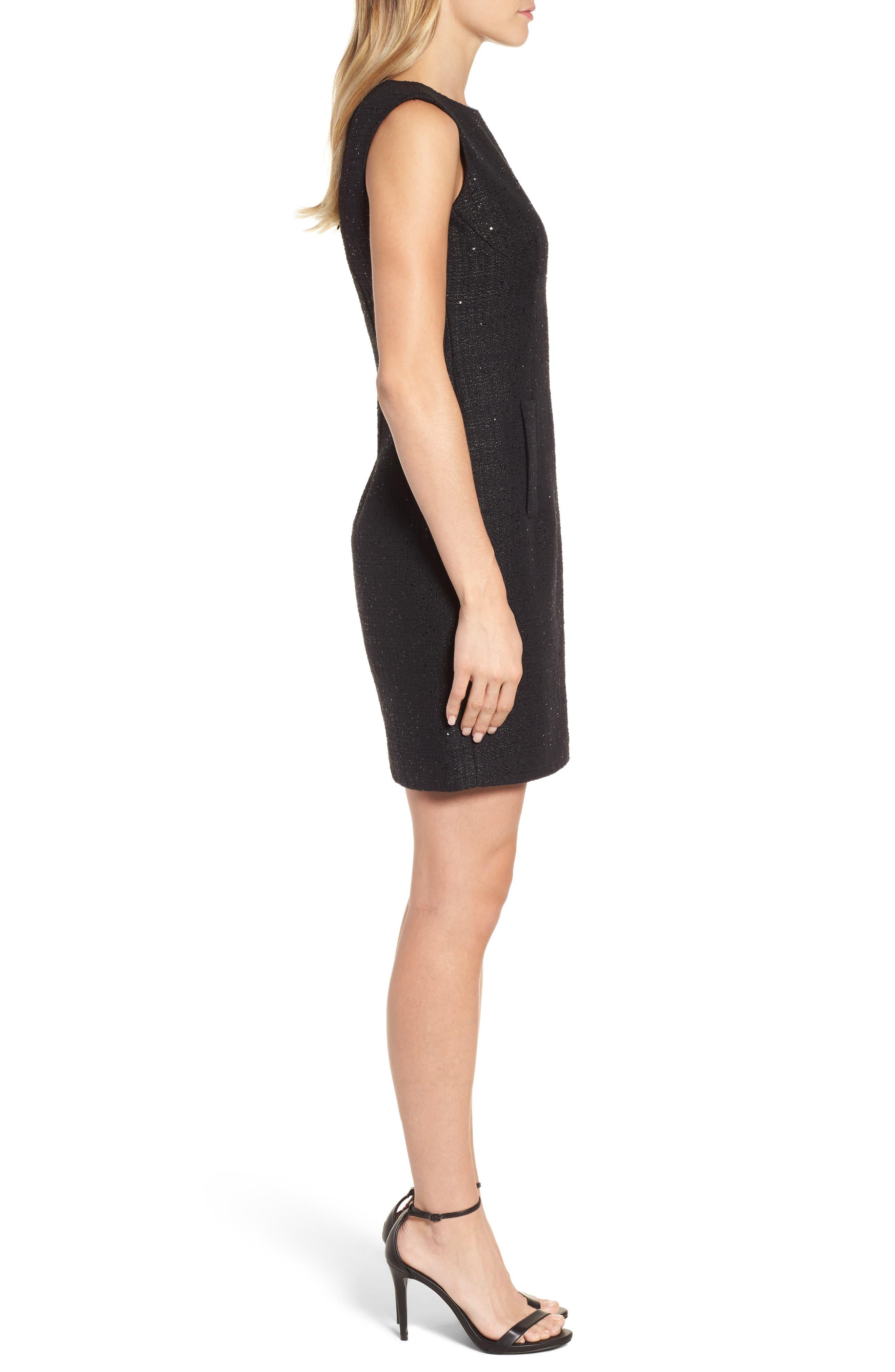Alternate Image 3  - Anne Klein New York Sequin Tweed Sheath Dress