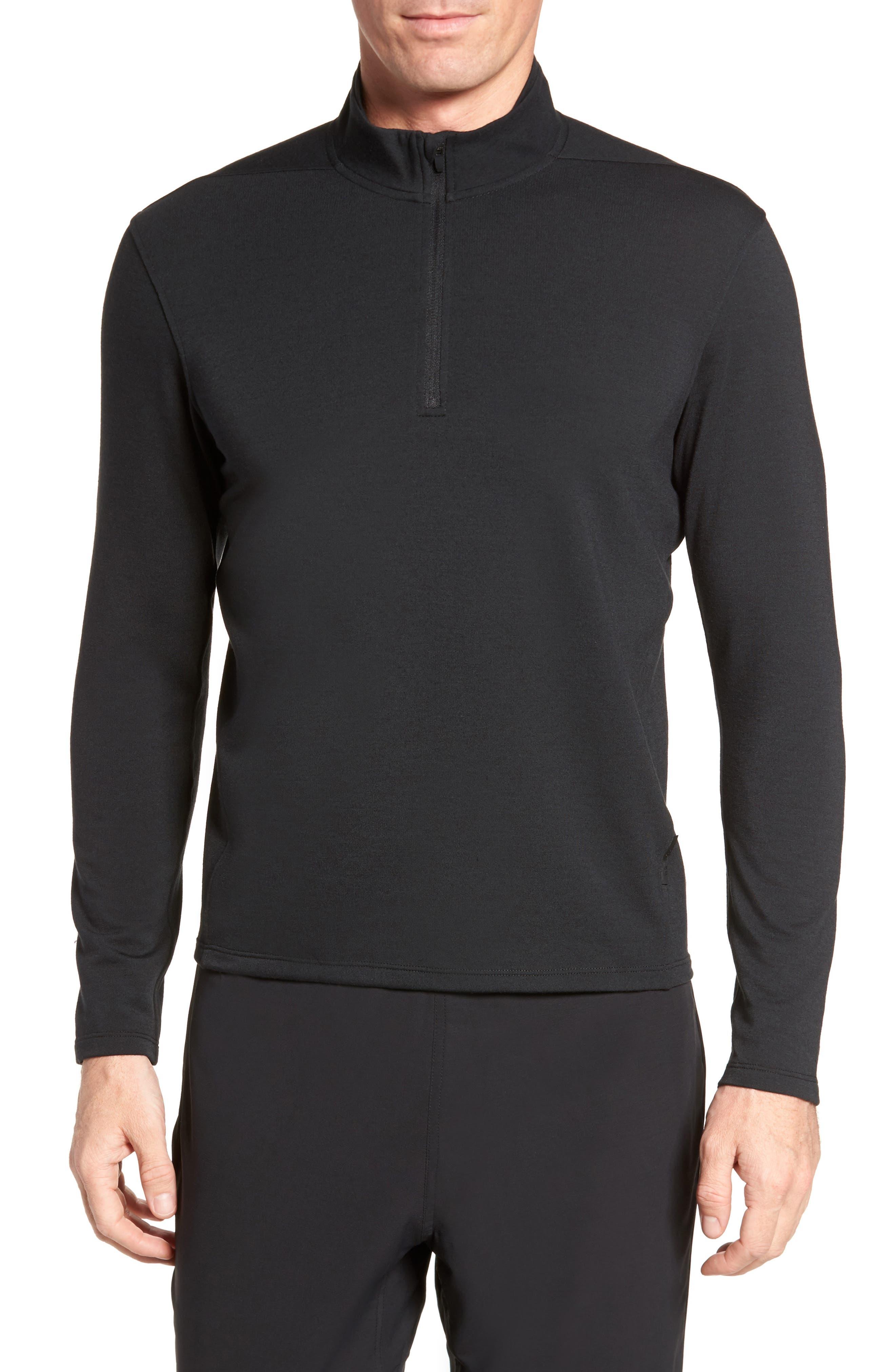 Distance Quarter Zip Pullover,                         Main,                         color, Black