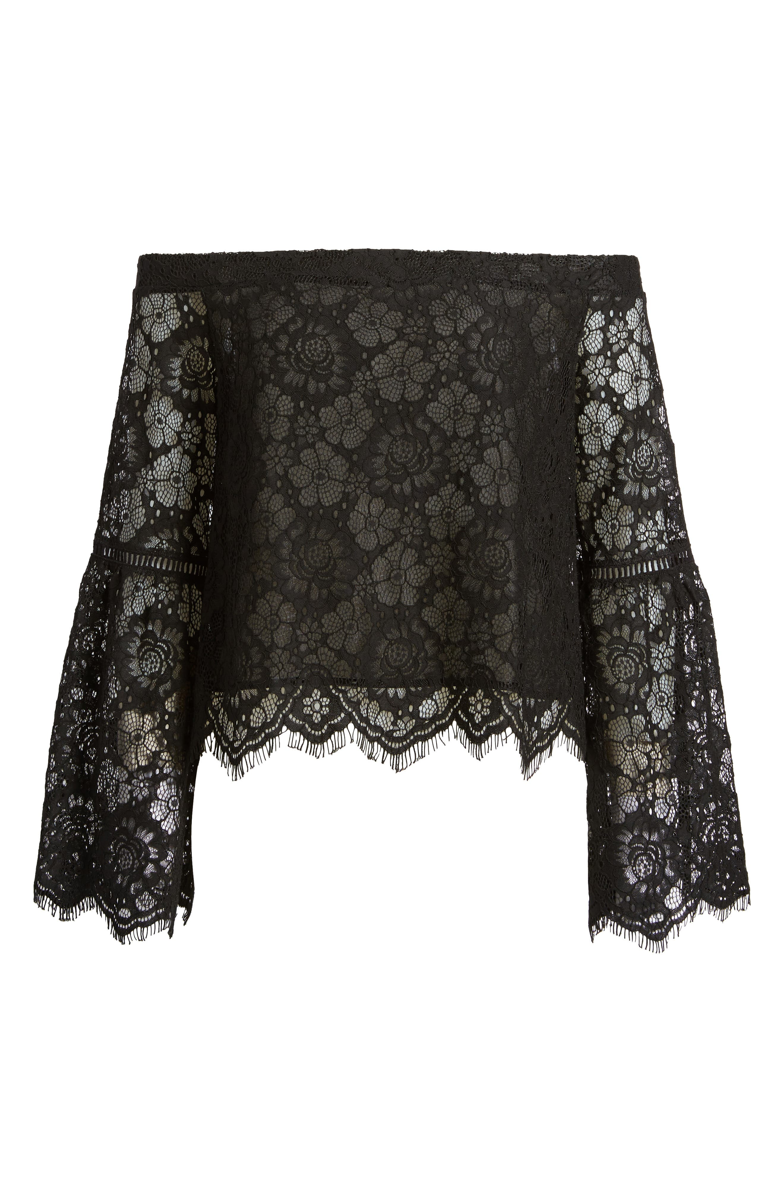 Alternate Image 7  - Lost + Wander Gabrielle Off the Shoulder Lace Top