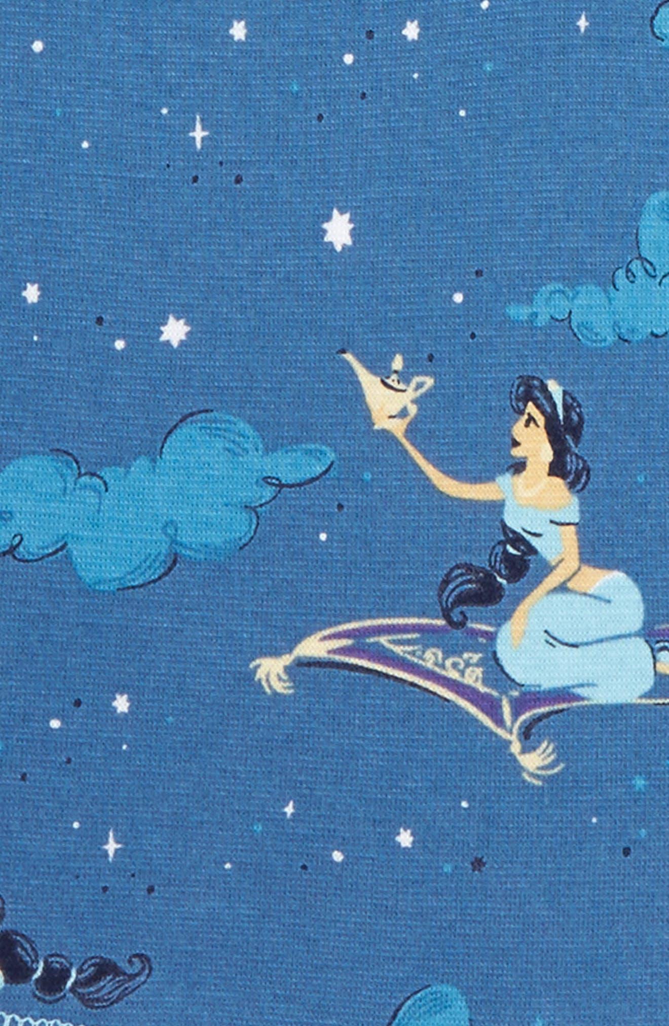Disney – Princess Jasmine Fitted Two-Piece Pajamas,                             Alternate thumbnail 2, color,                             Navy Jasmine
