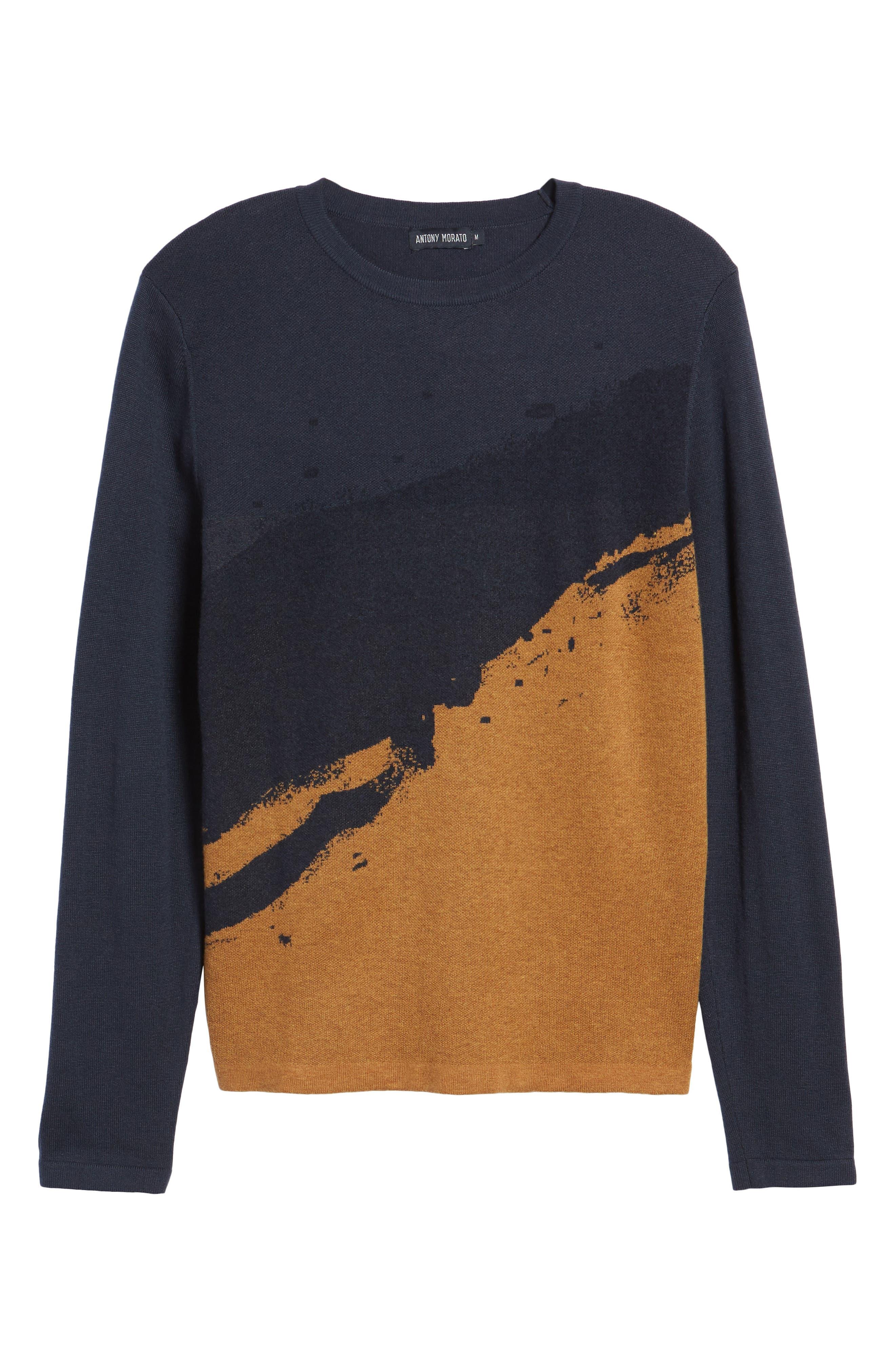 Anotny Morato Pattern Sweater,                             Alternate thumbnail 6, color,                             Soft Blue