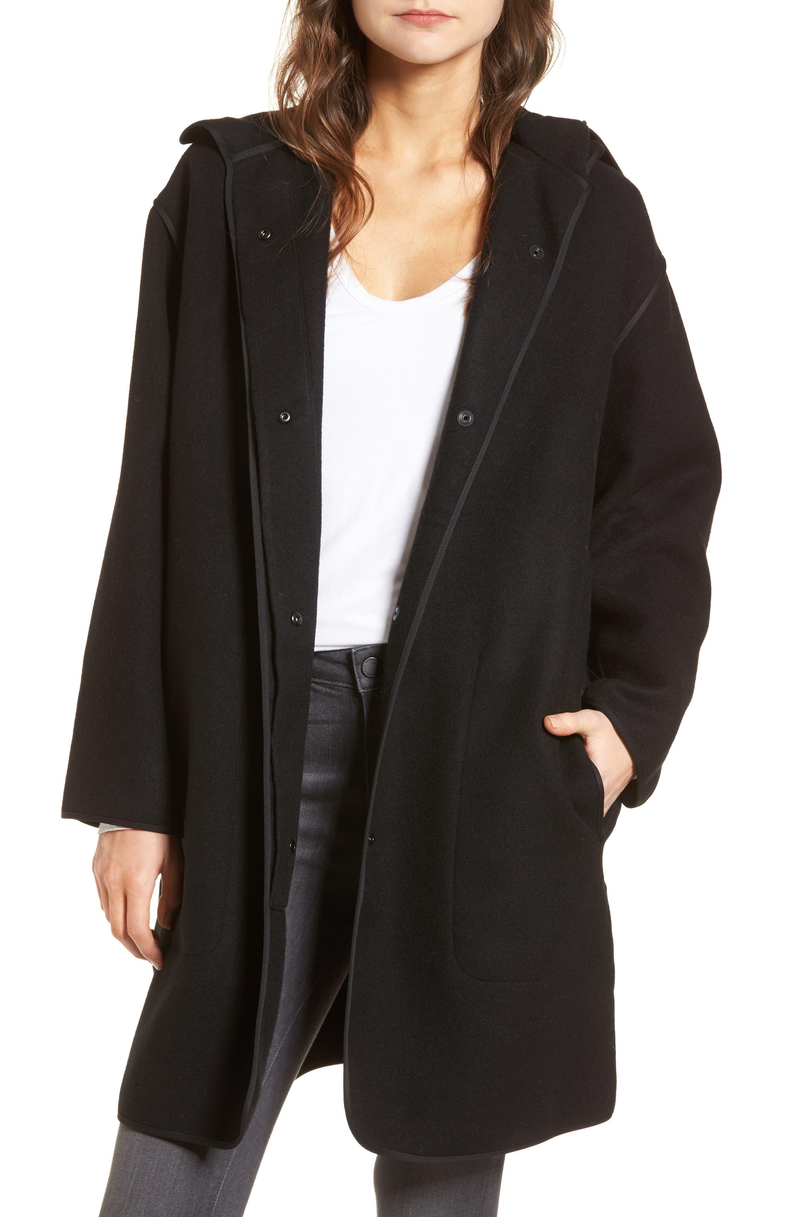 Hooded Parka,                         Main,                         color, Black