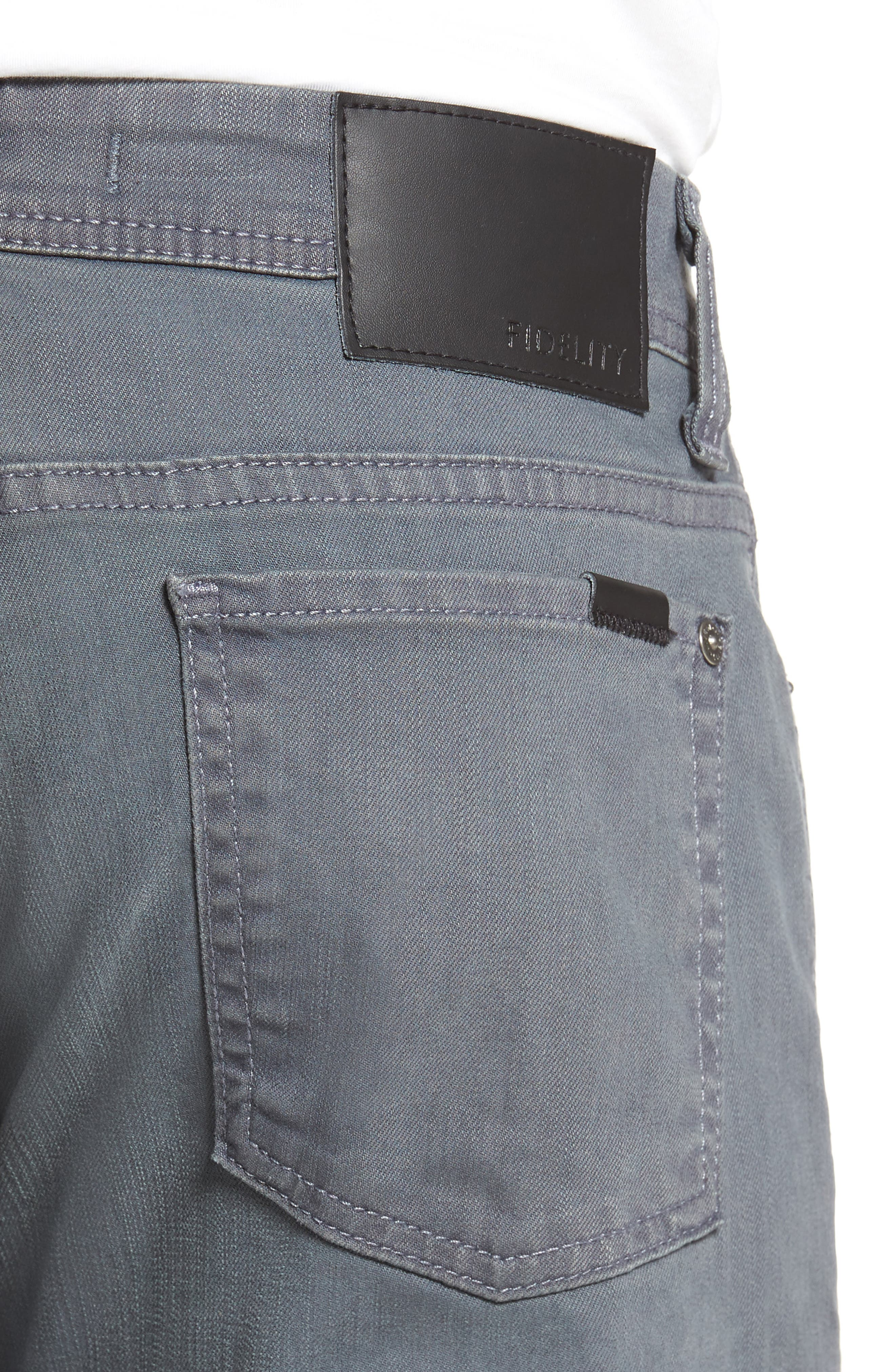 Jimmy Slim Straight Fit Jeans,                             Alternate thumbnail 4, color,                             Oyster