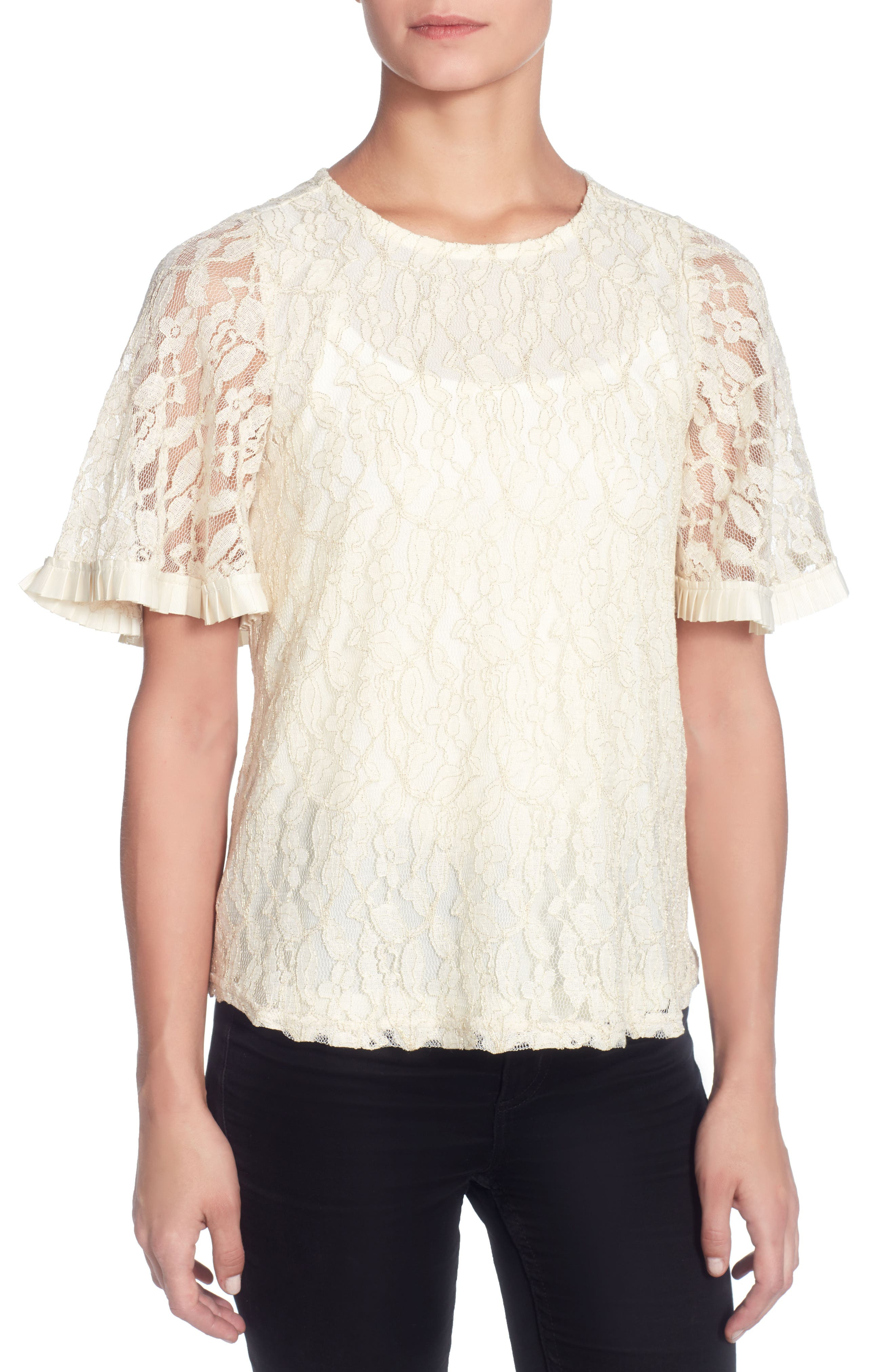 Opal Lace Top,                             Main thumbnail 1, color,                             Ivory