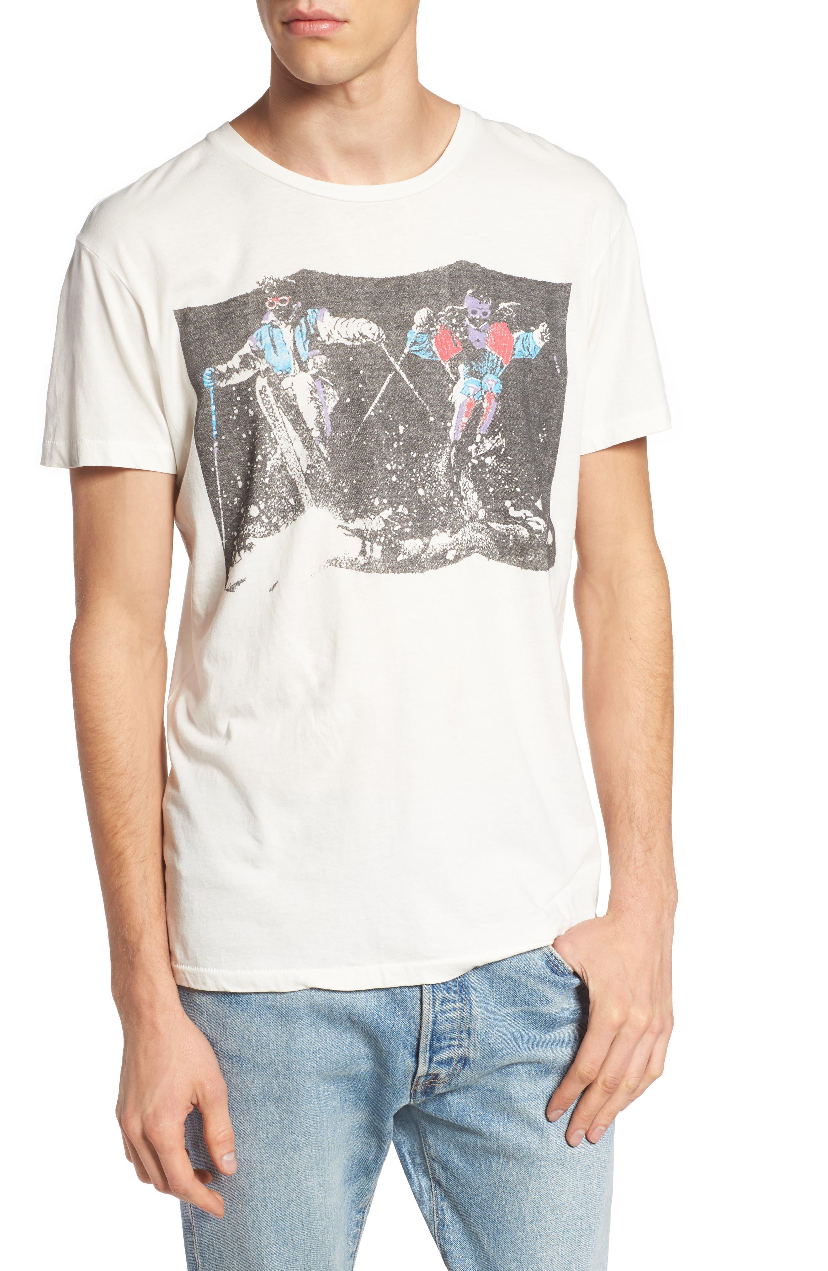 Pow Pow Crew Graphic T-Shirt,                             Main thumbnail 1, color,                             Dirty White