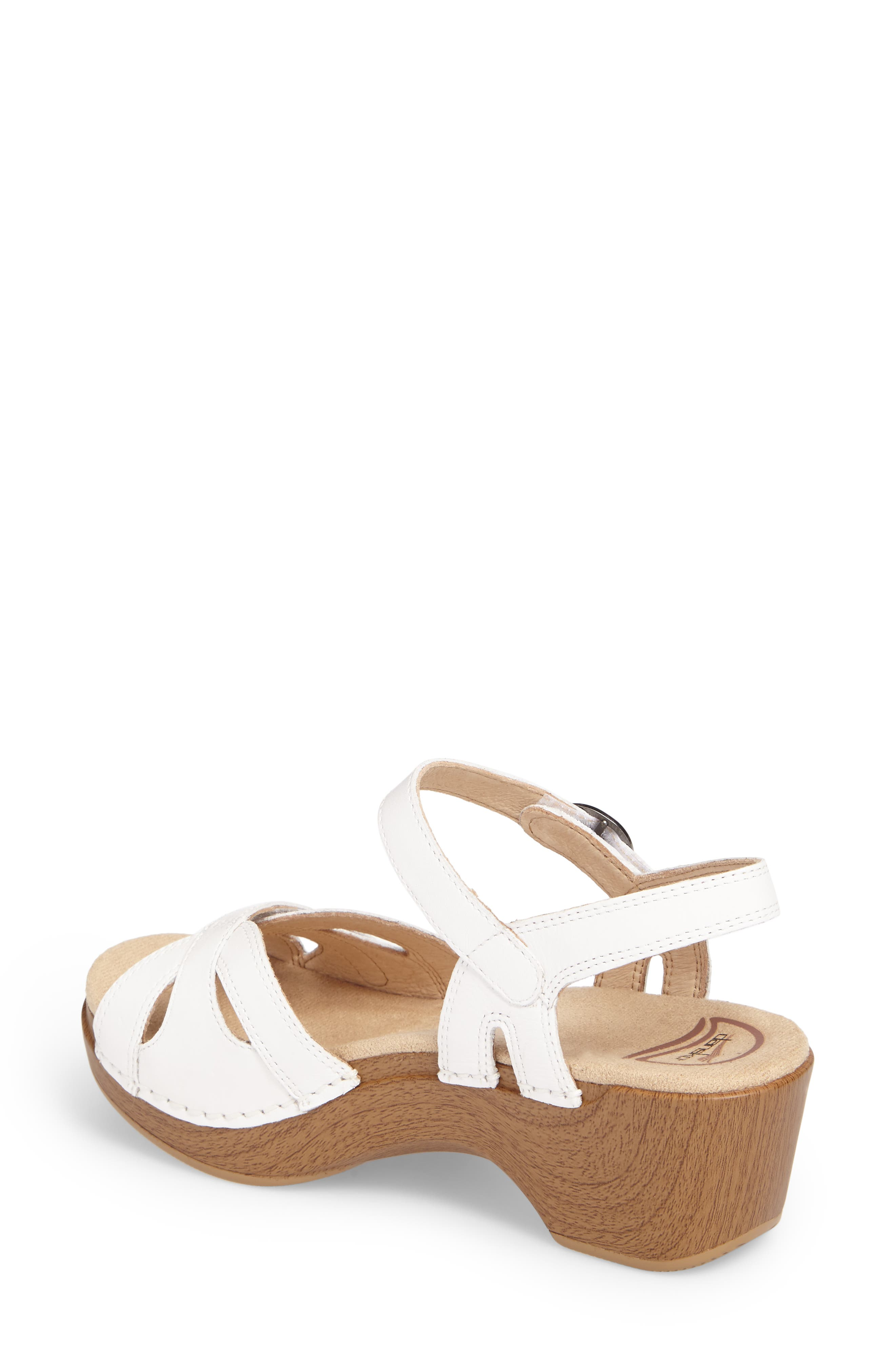 Season Sandal,                             Alternate thumbnail 2, color,                             White Leather