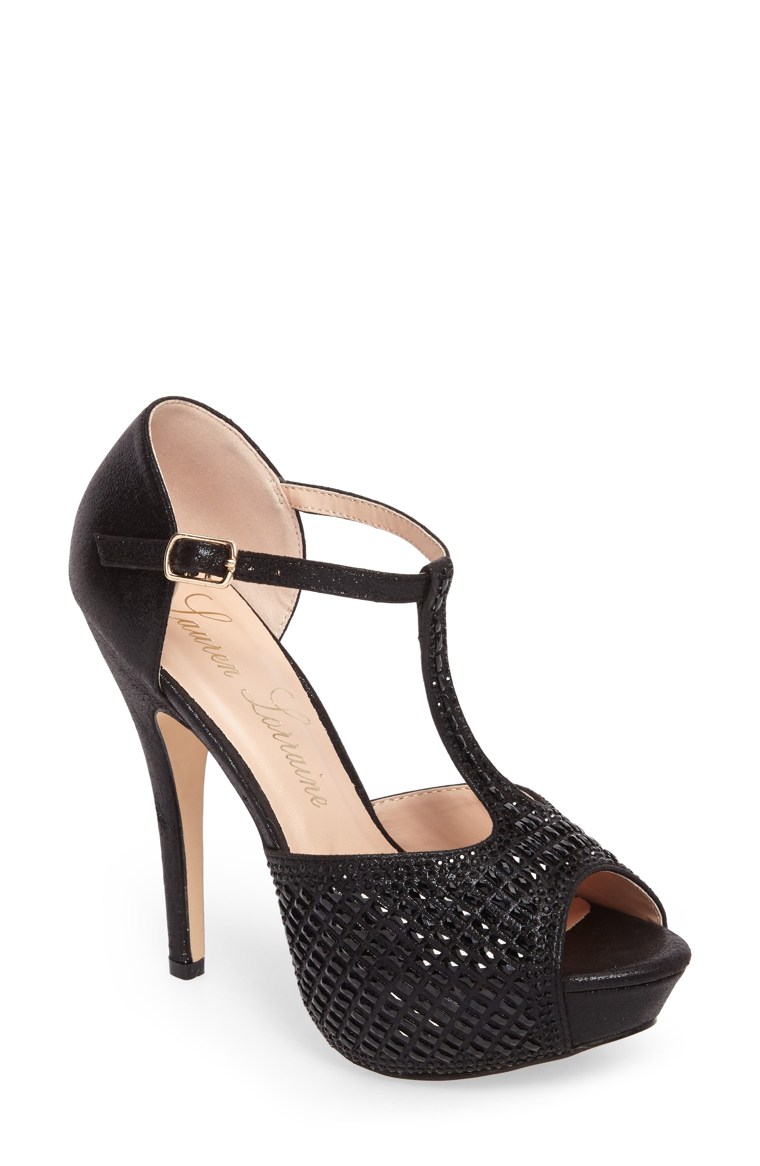 Vivian 4 Crystal Embellished Sandal,                         Main,                         color, Black Shimmer