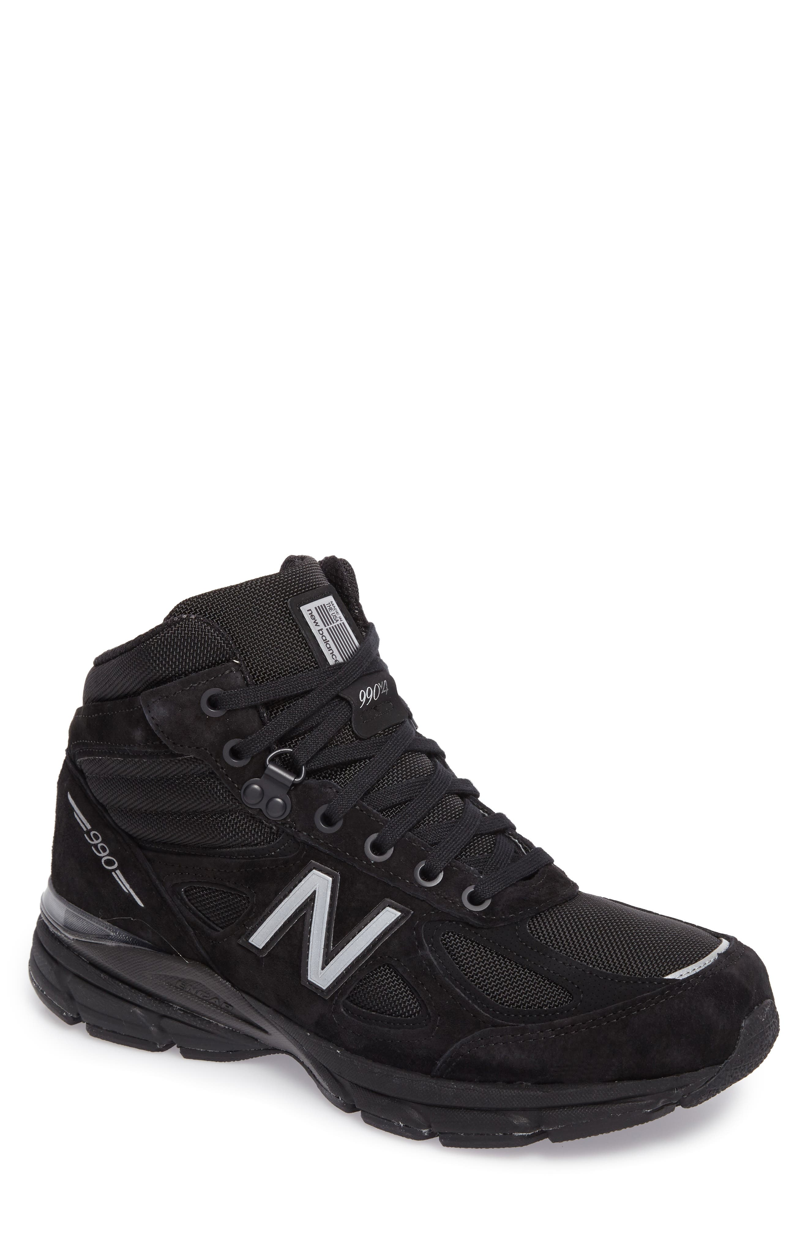 990v4 Water Resistant Sneaker Boot,                         Main,                         color, Black