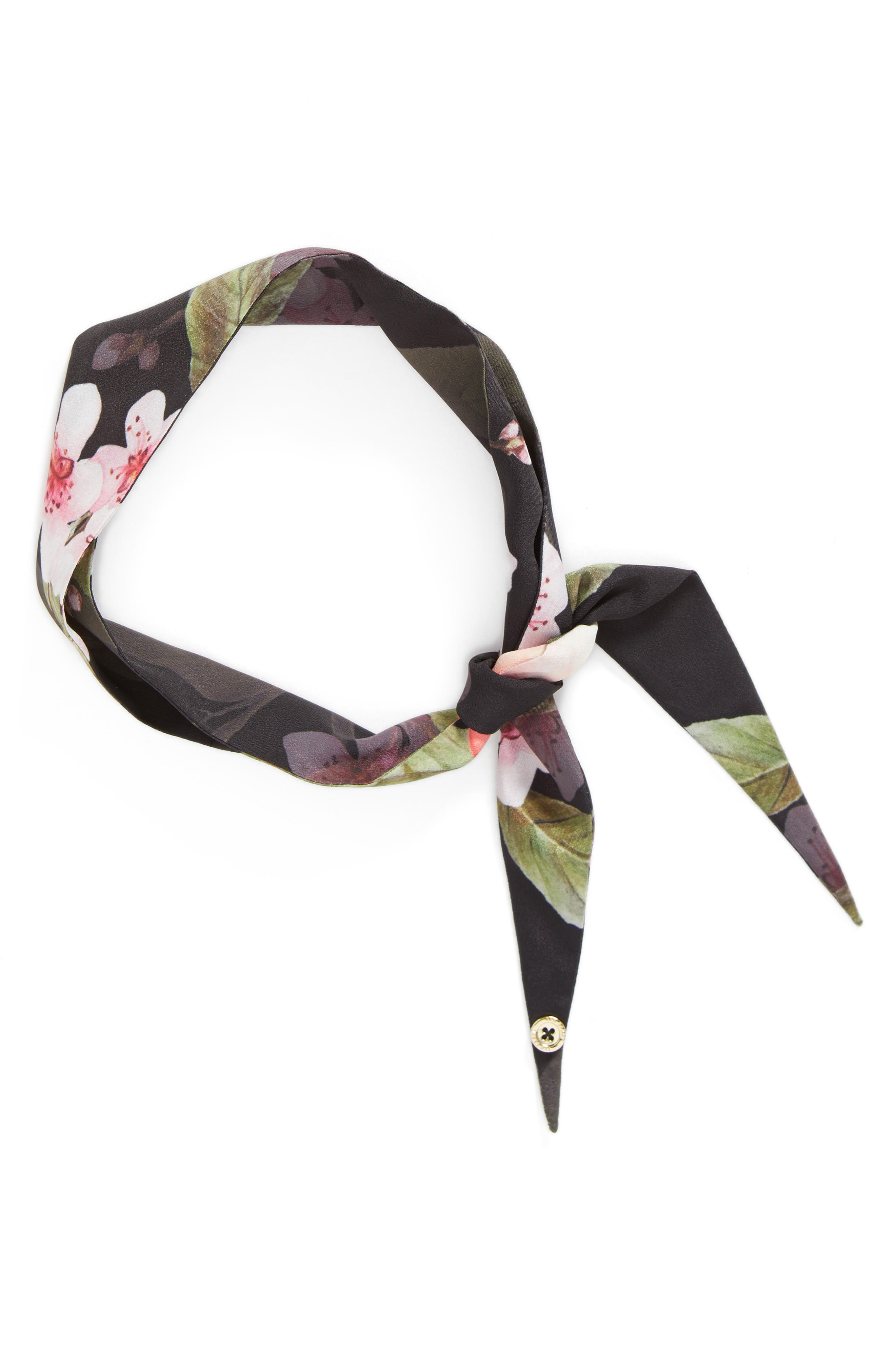 Alternate Image 3  - Ted Baker London Peach Blossom Skinny Scarf