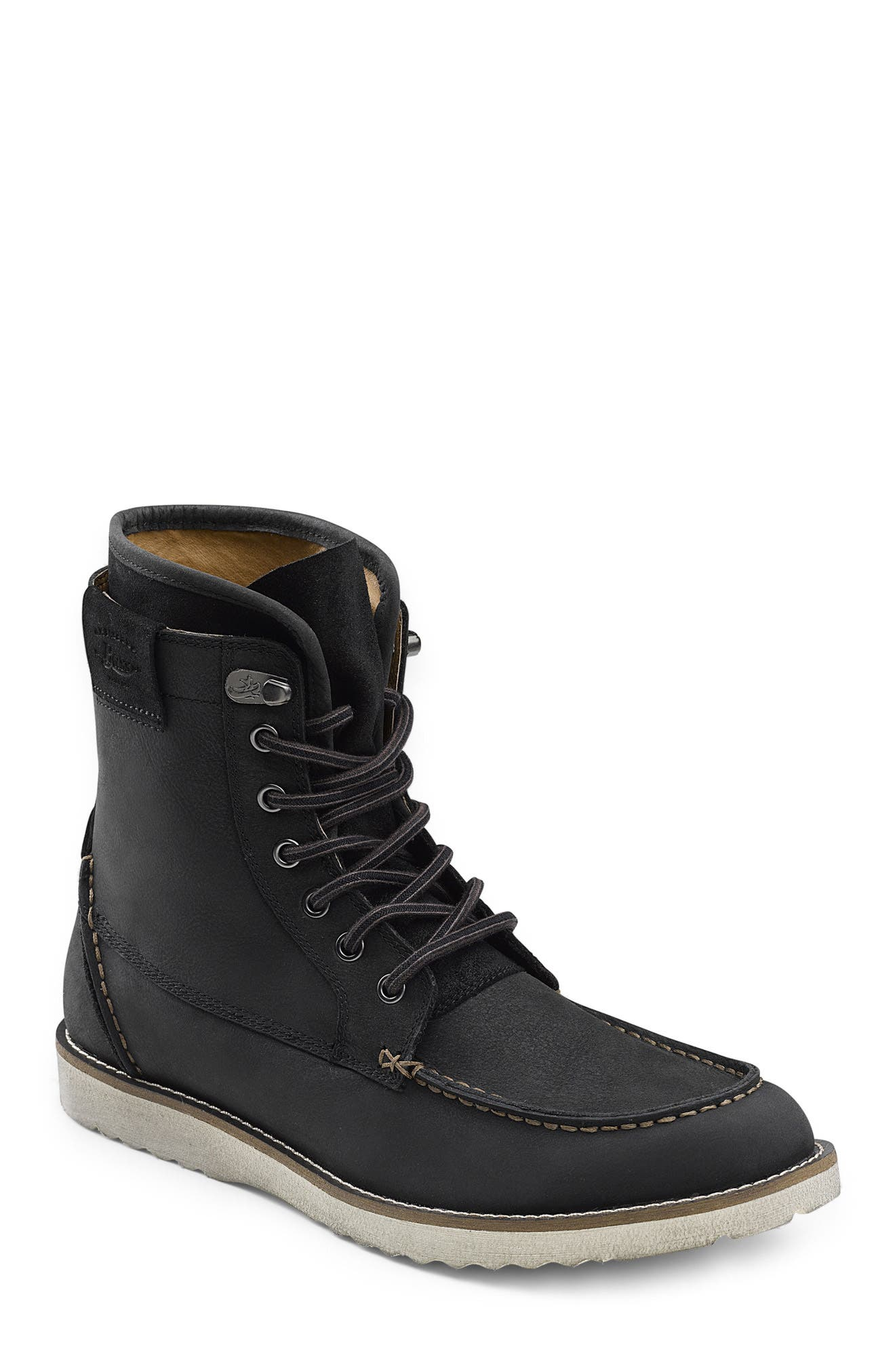 Shane Moc Toe Boot,                         Main,                         color, Black