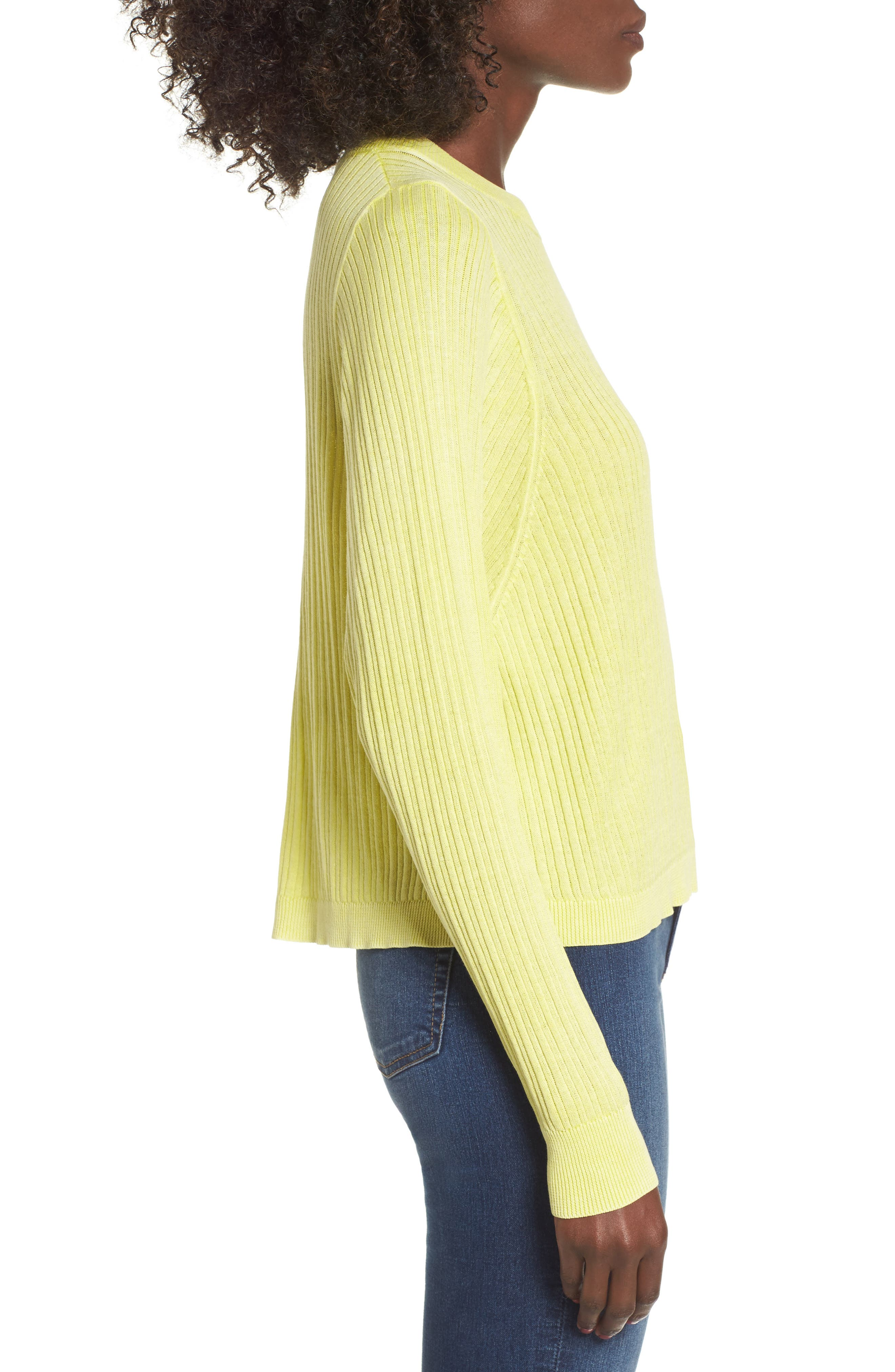 Alternate Image 3  - BP. Crewneck Variegated Rib-Knit Sweater