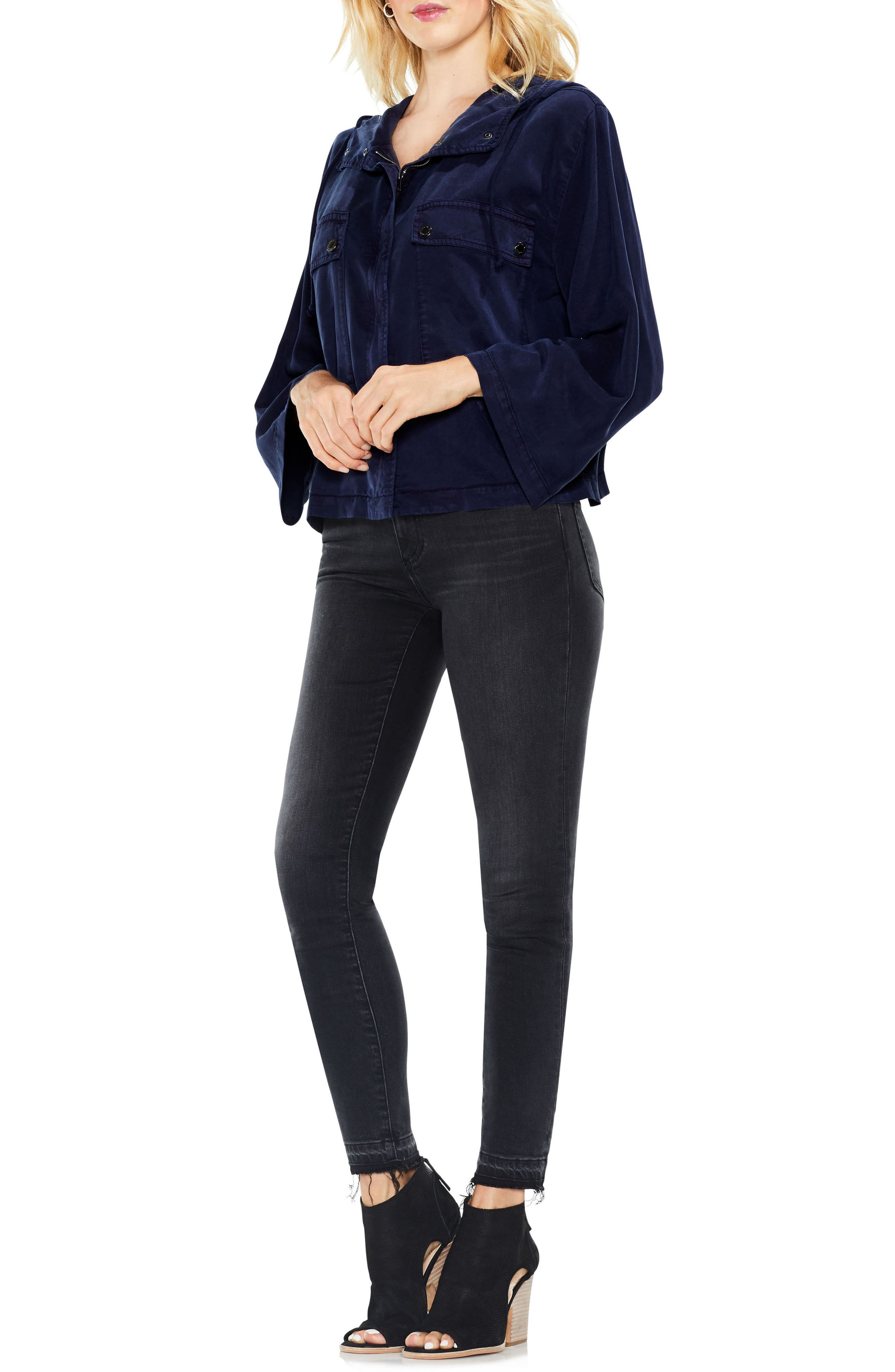 Alternate Image 5  - Two by Vince Camuto Bell Sleeve Hooded Jacket