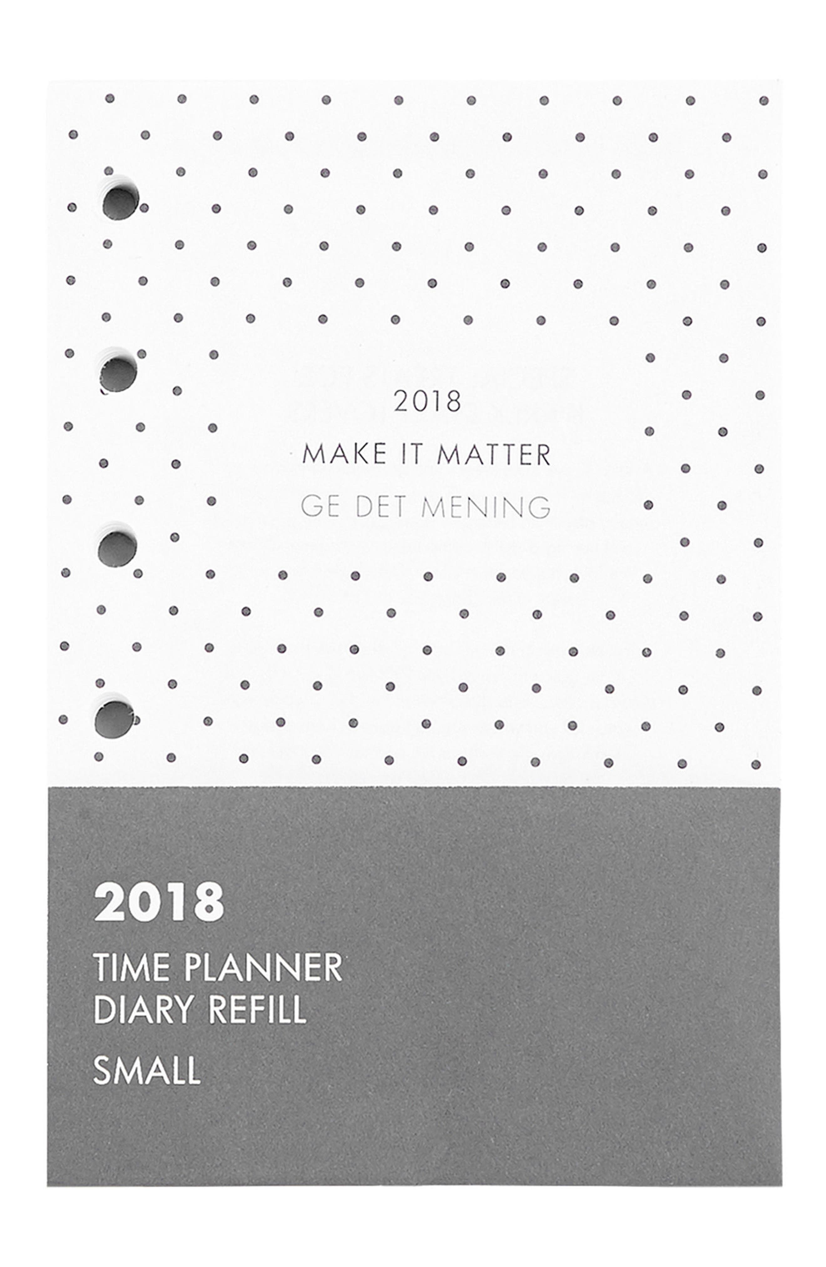 2018 Small Planner Refill Pack,                         Main,                         color, White