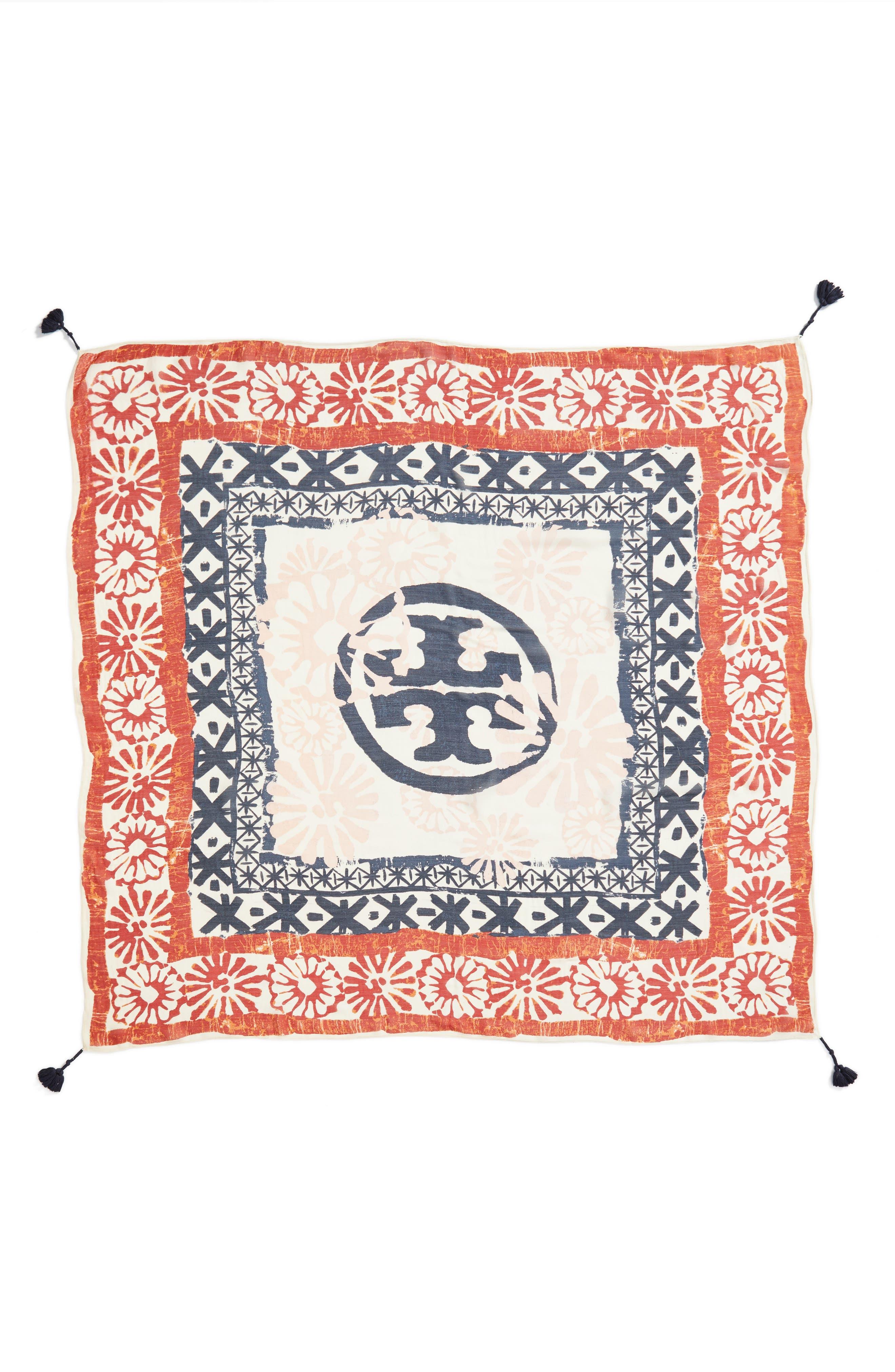 Tassel Wool & Silk Scarf,                             Alternate thumbnail 3, color,                             Neutral