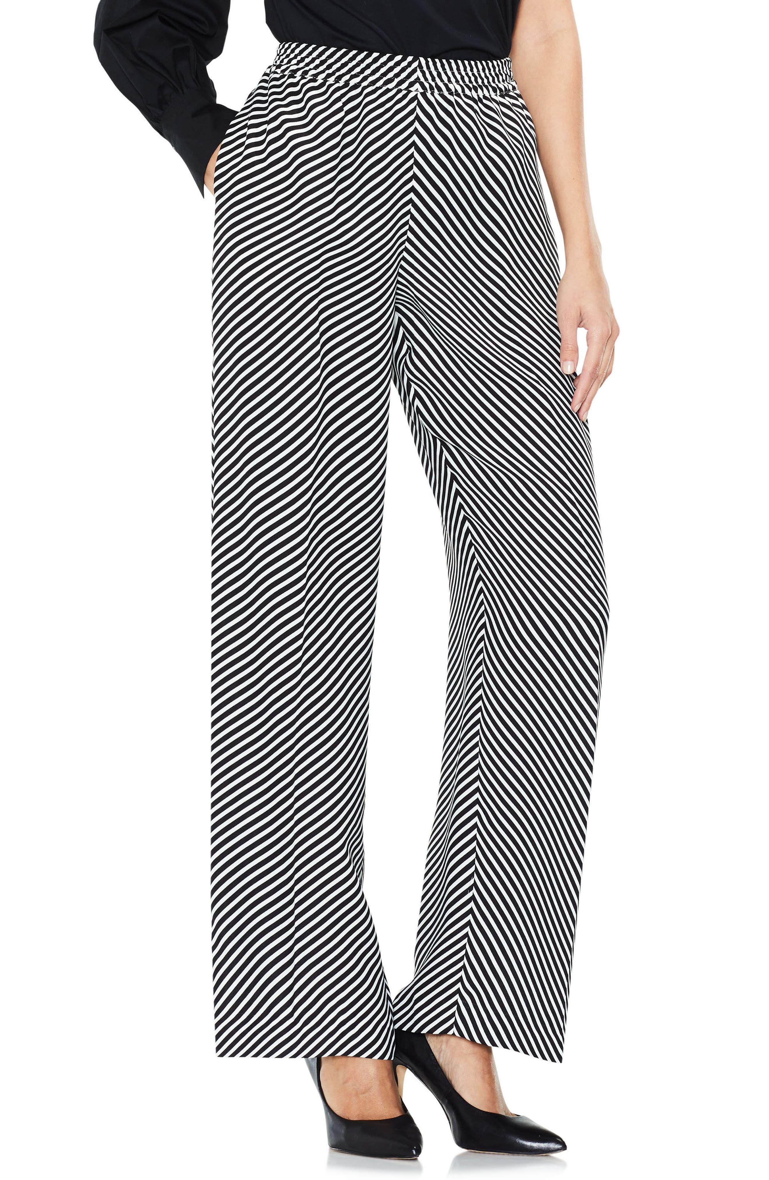 Alternate Image 3  - Vince Camuto Diagonal Stripe Wide Leg Pants