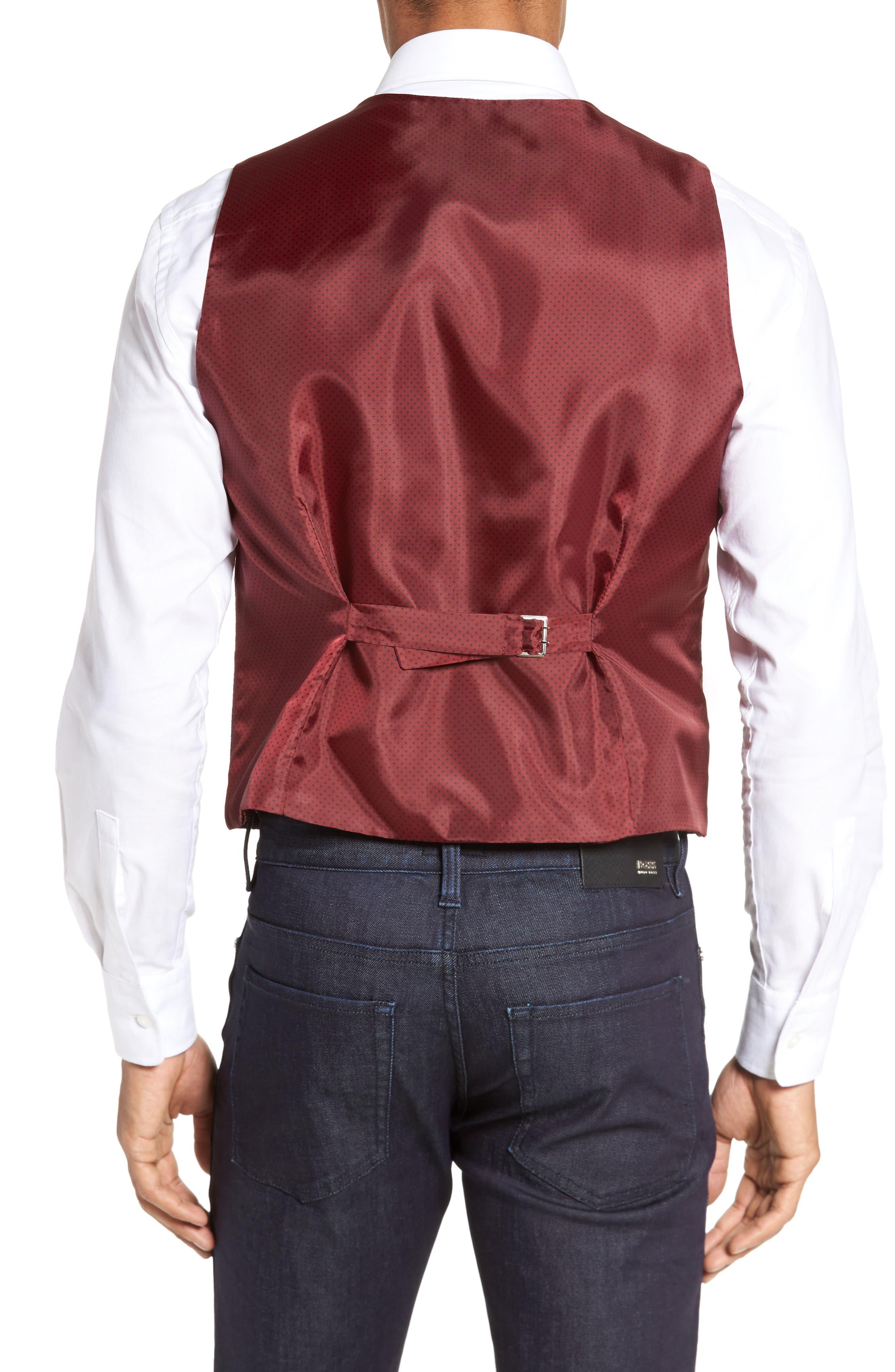 Textured Wool Blend Vest,                             Alternate thumbnail 2, color,                             Burgundy