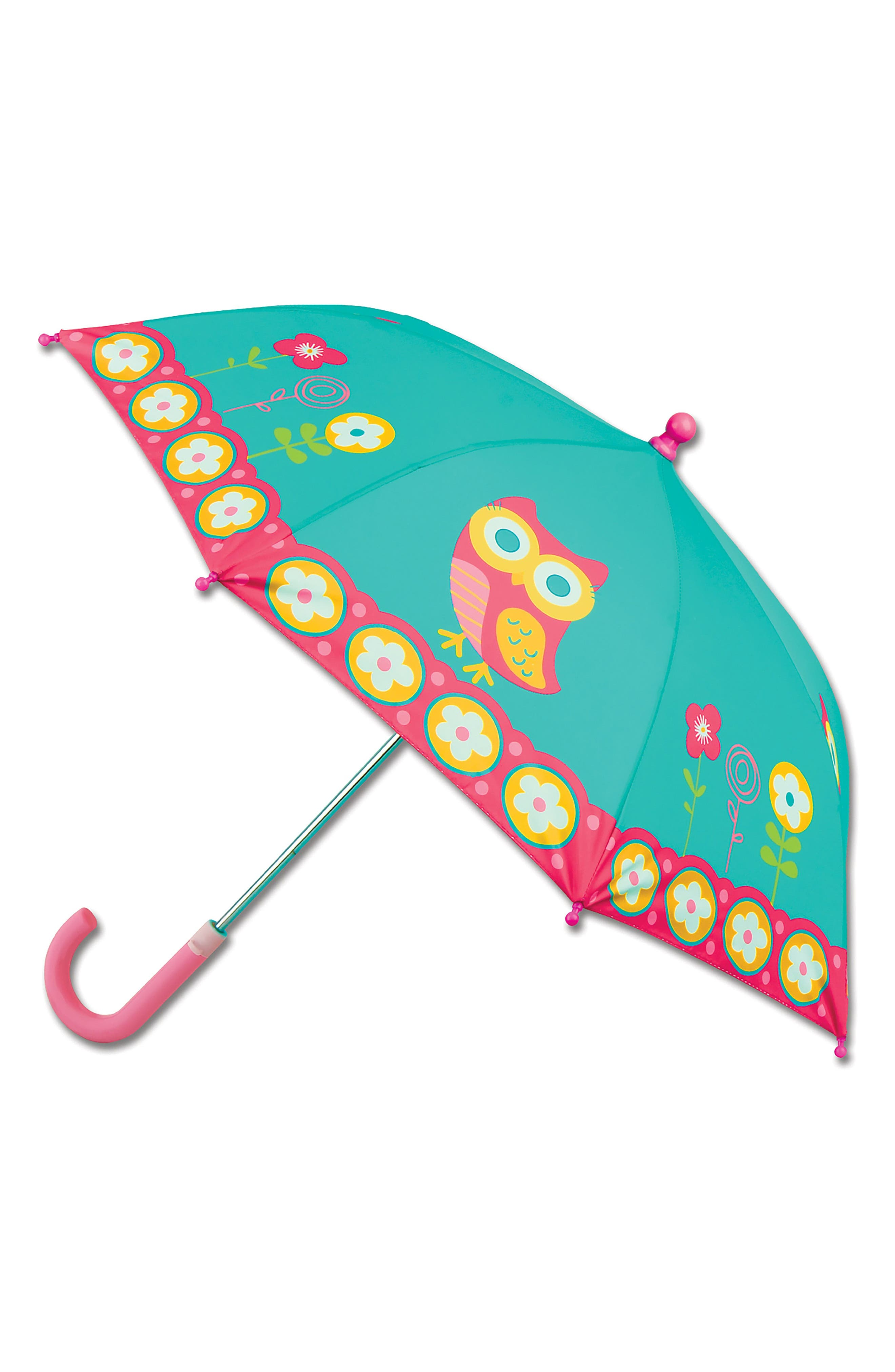 Alternate Image 5  - Stephen Joseph Owl Rain Boots & Umbrella Set (Little Girls & Big Girls)